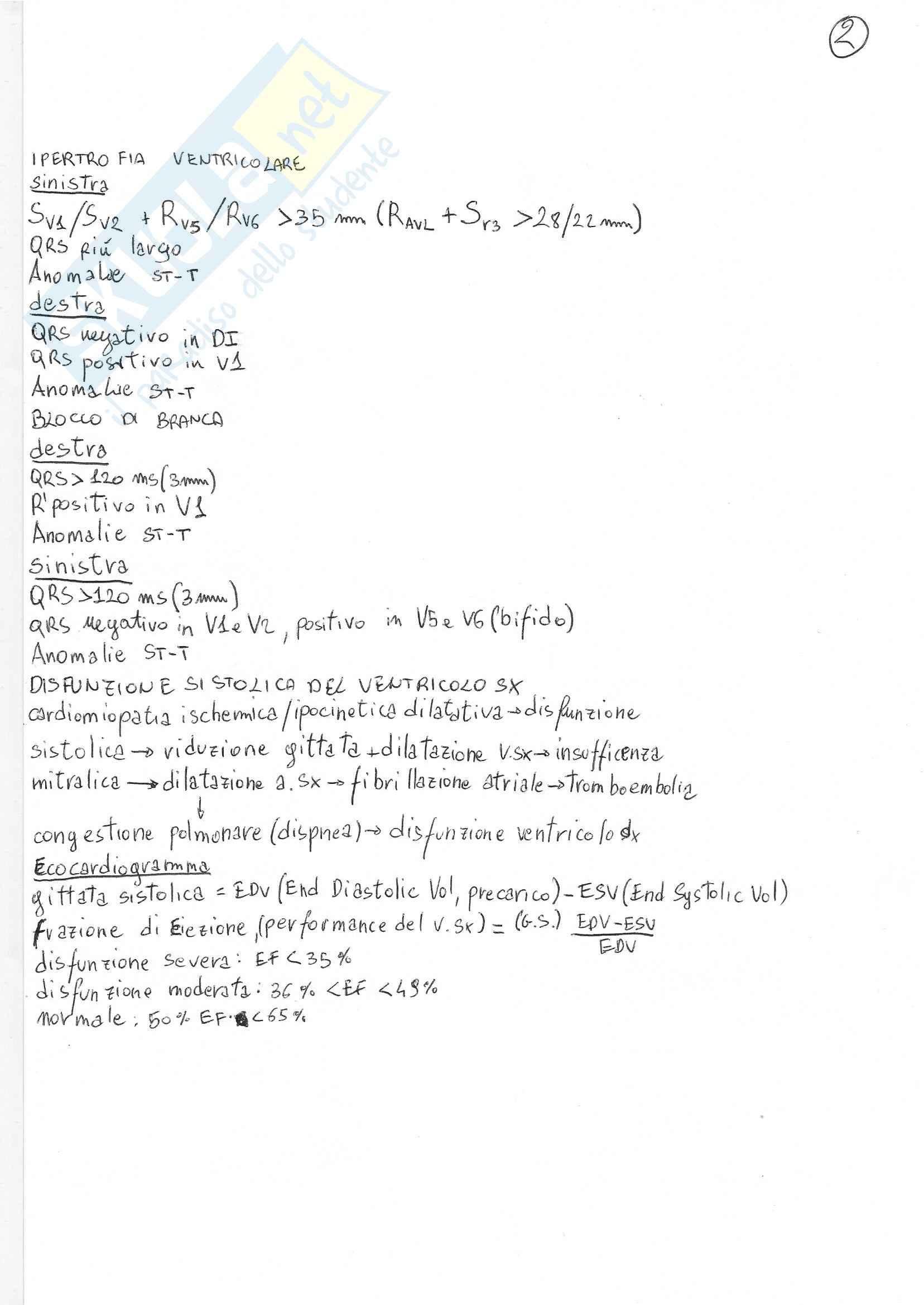 Cardiologia - Appunti parte 1 Pag. 2