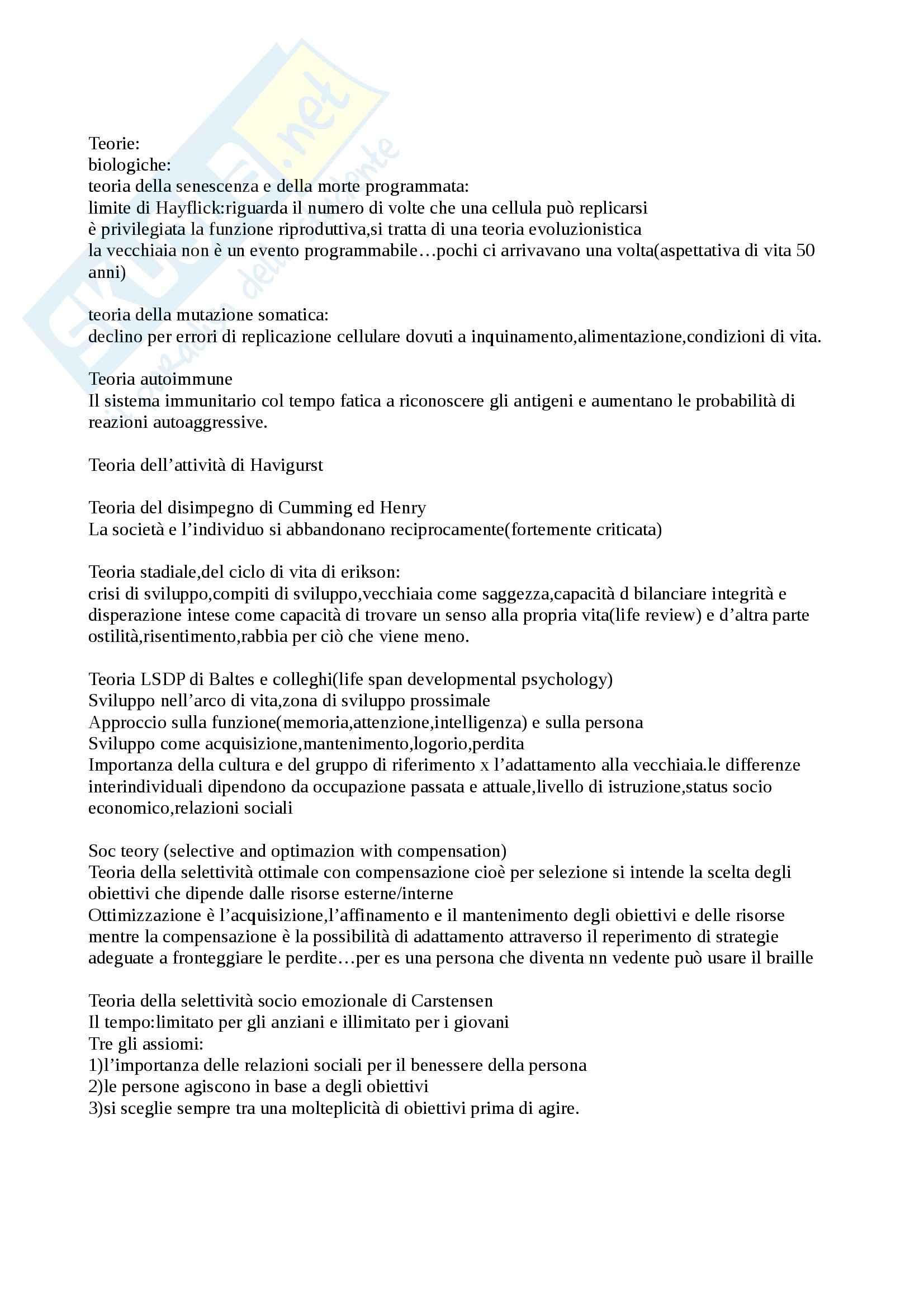 Psicologia dell'invecchiamento - Appunti Pag. 2