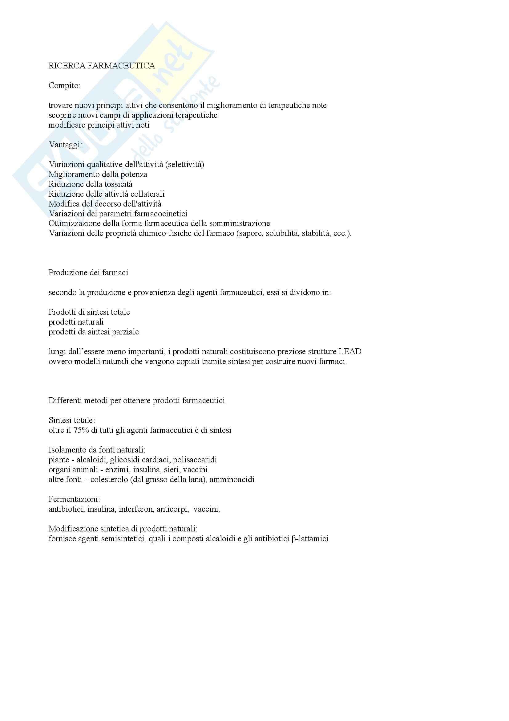 Chimica farmaceutica e tossicologica - parte generale