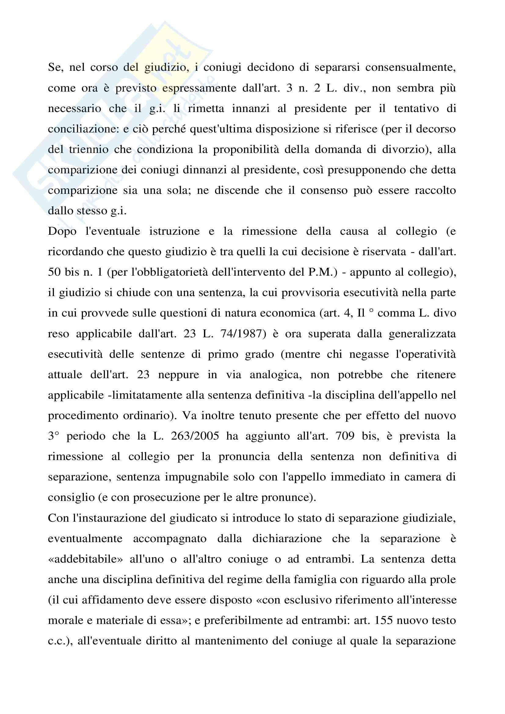 Diritto processuale civile - i procedimenti di cognizione speciali non sommari - Appunti Pag. 16