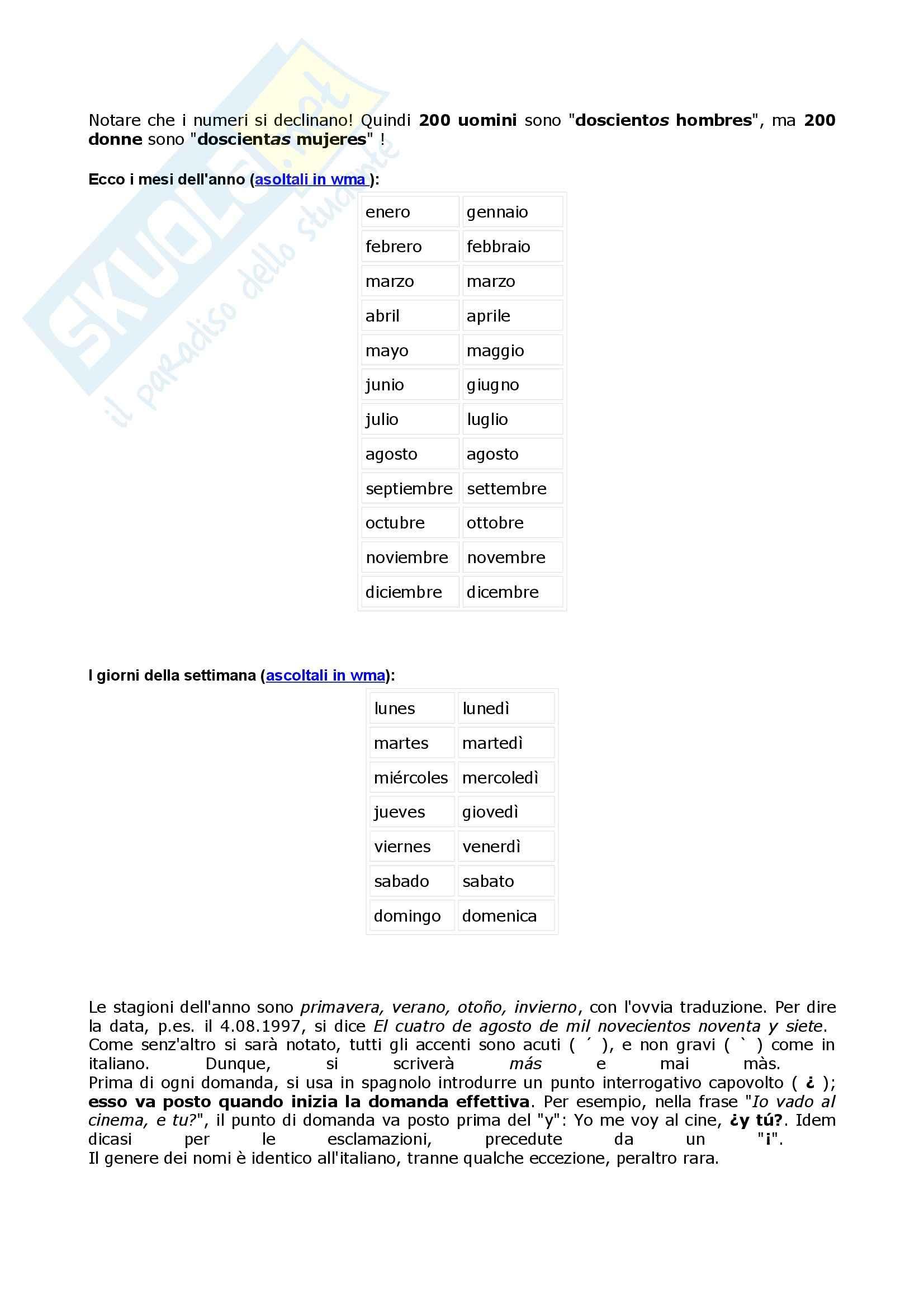 Lingua spagnola - grammatica Pag. 11