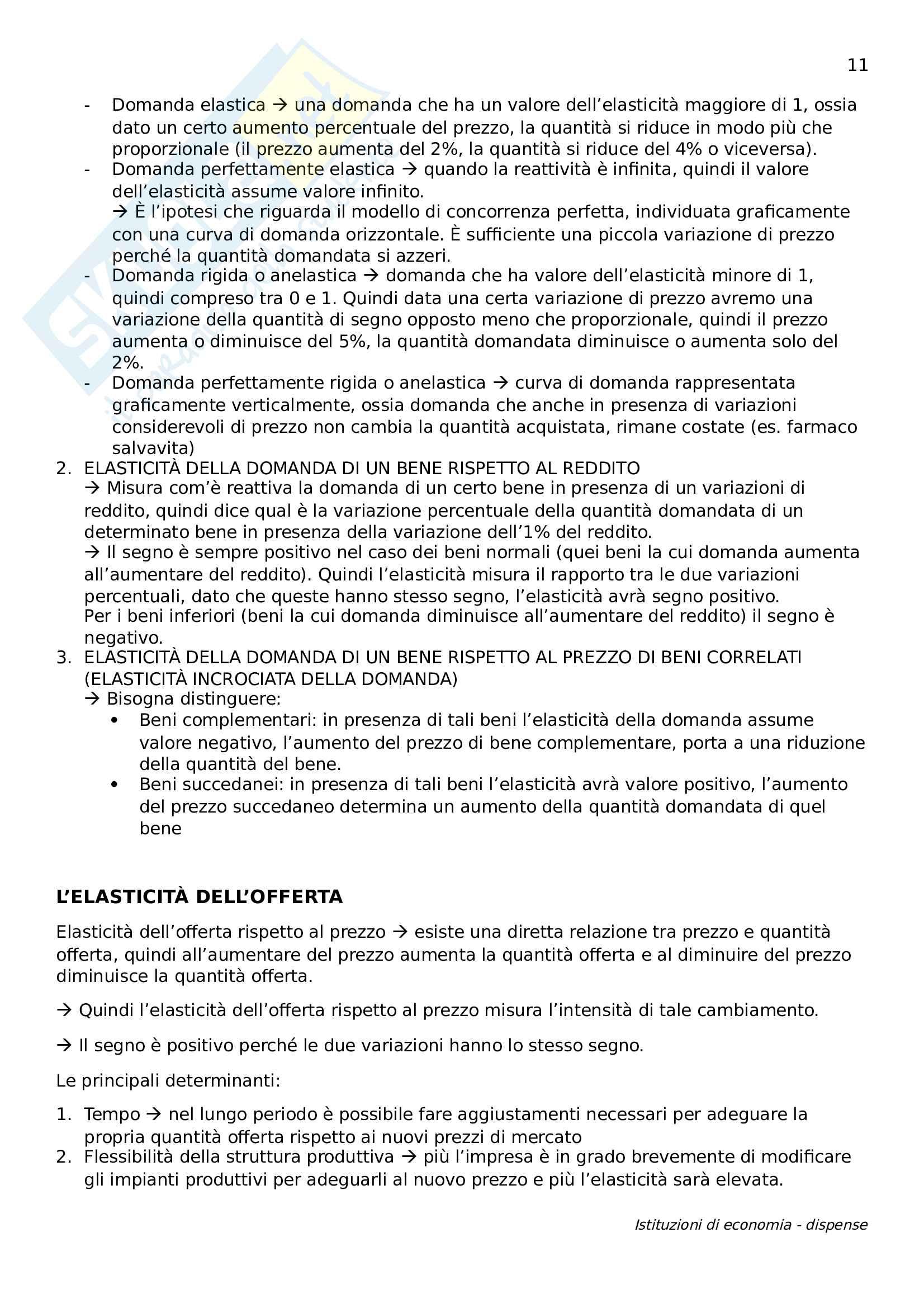 Istituzioni di economia Pag. 11