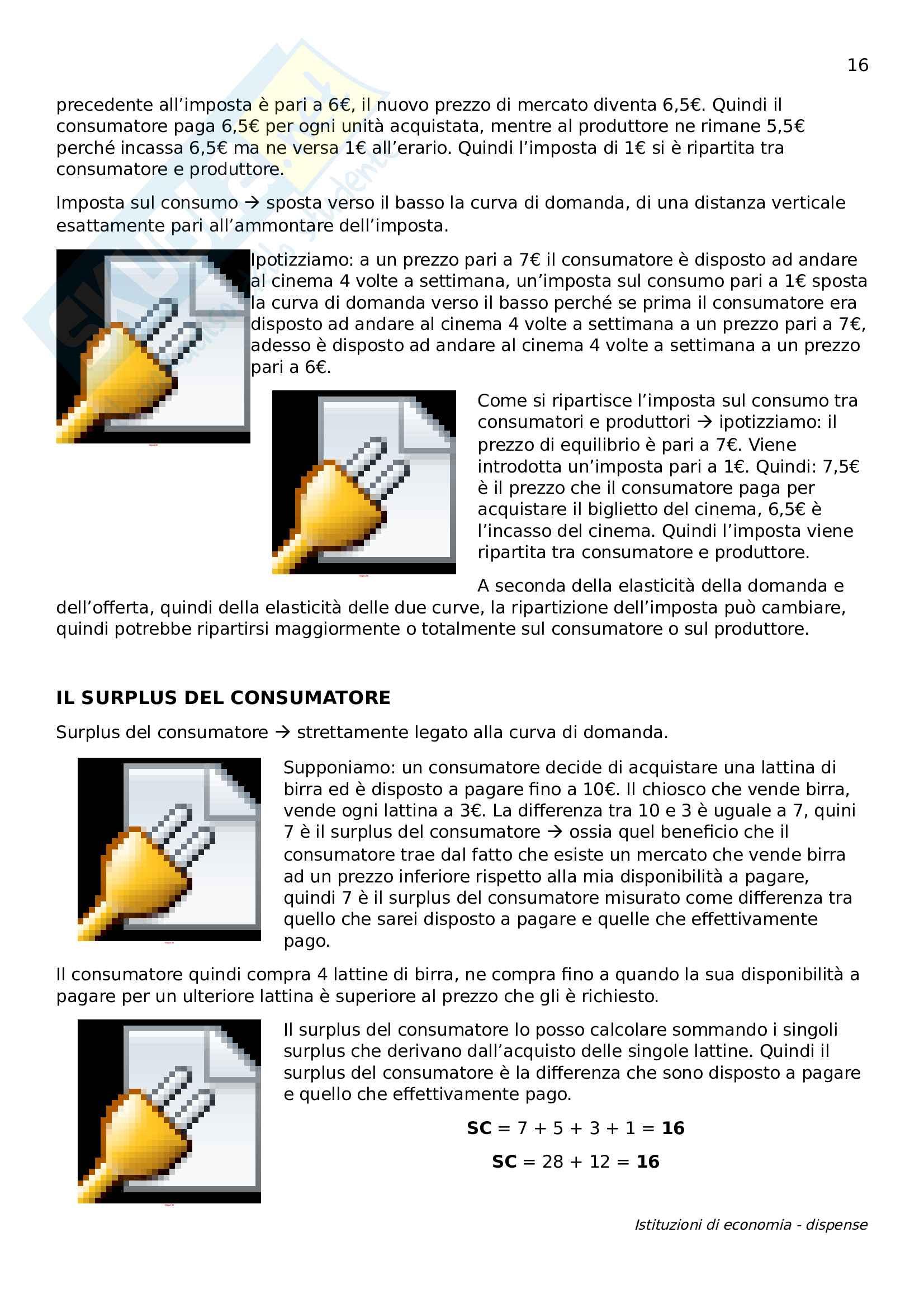 Istituzioni di economia Pag. 16