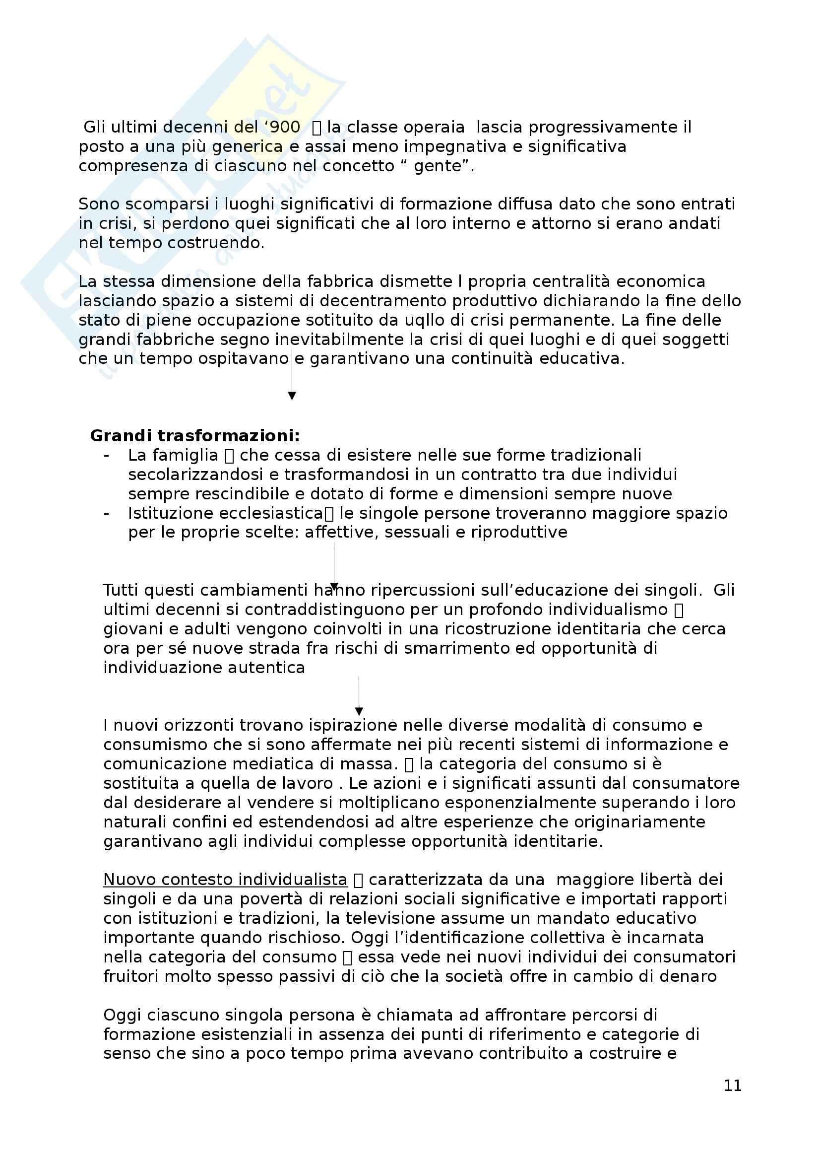 Riassunto esame Pedagogia generale, prof. Tramma, libro consigliato Introduzione alla pedagogia e al lavoro educativo, Kaniza Pag. 11