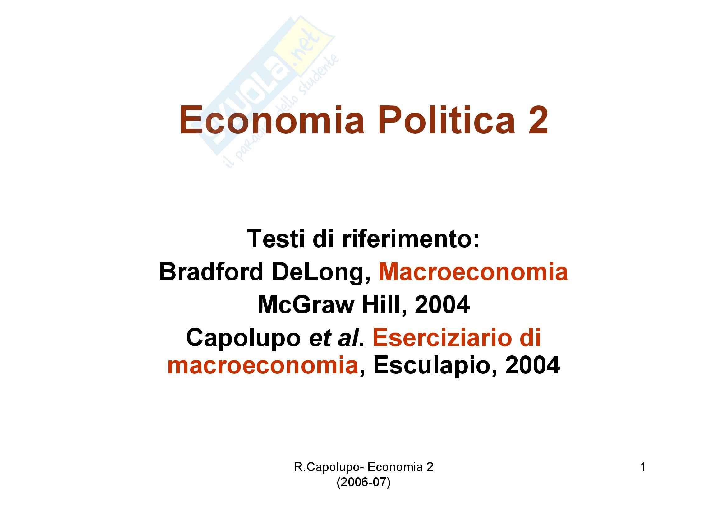 Economia politica - diapositive prima lezione