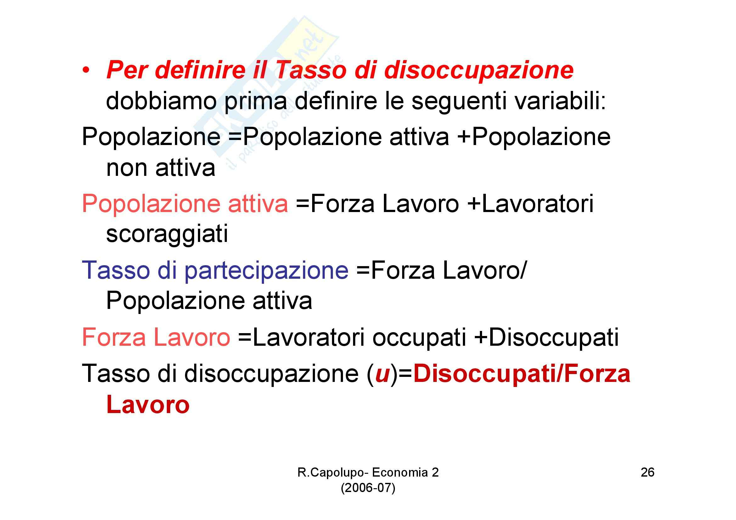 Economia politica - diapositive prima lezione Pag. 26