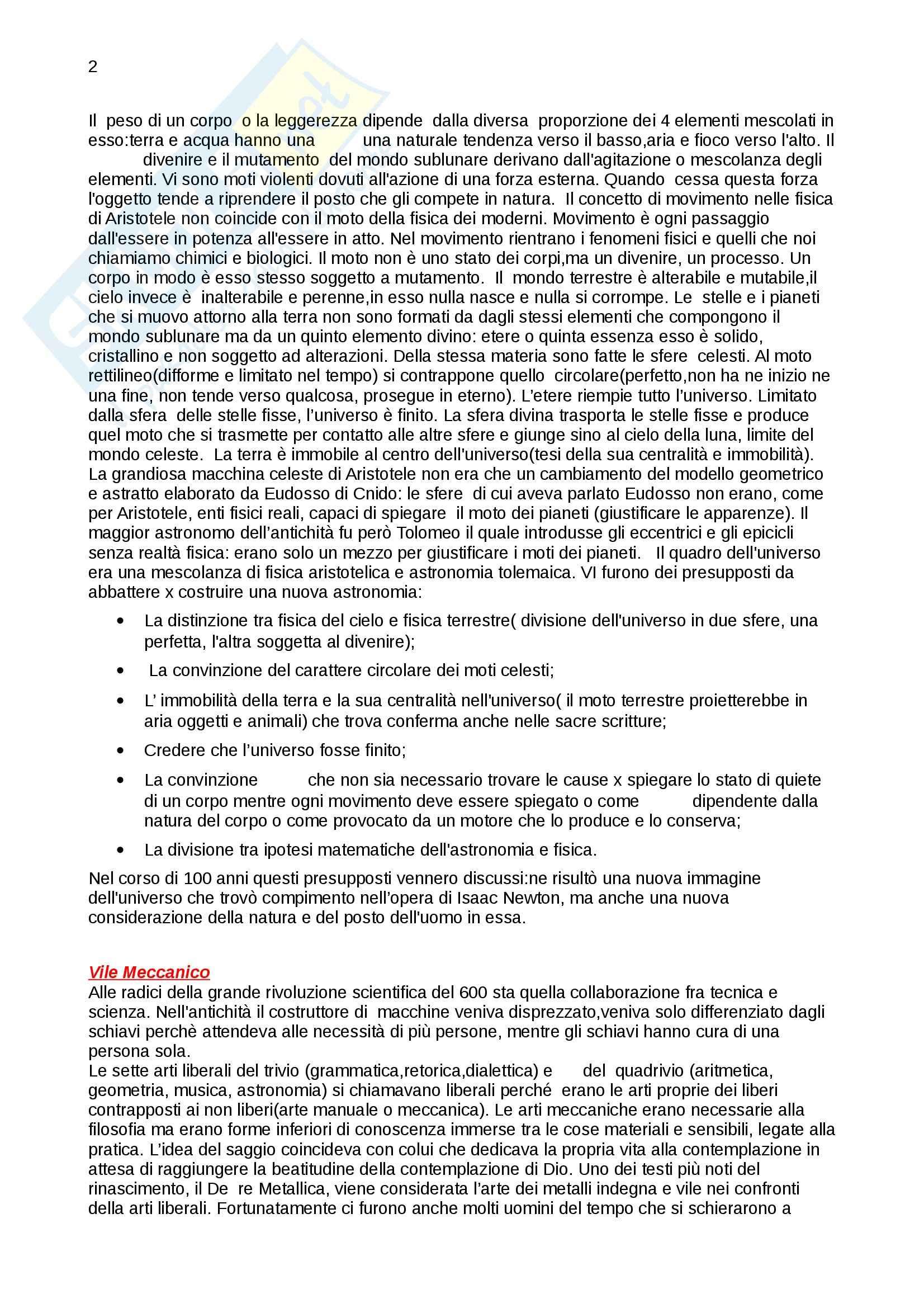 Riassunto esame Storia della scienza, prof. Vaccari, libro consigliato La nascita della scienza moderna in Europa, Rossi Pag. 2