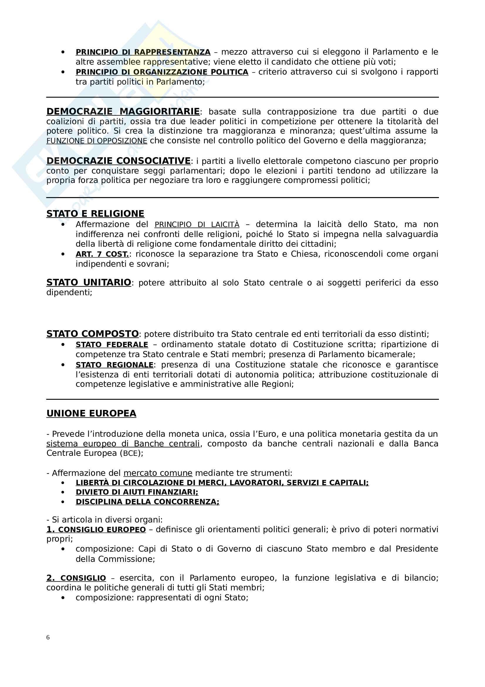 Riassunto esame Istituzioni di diritto pubblico, prof. Di Plinio, libro consigliato Diritto Pubblico, Bin Pitruzzella Pag. 6