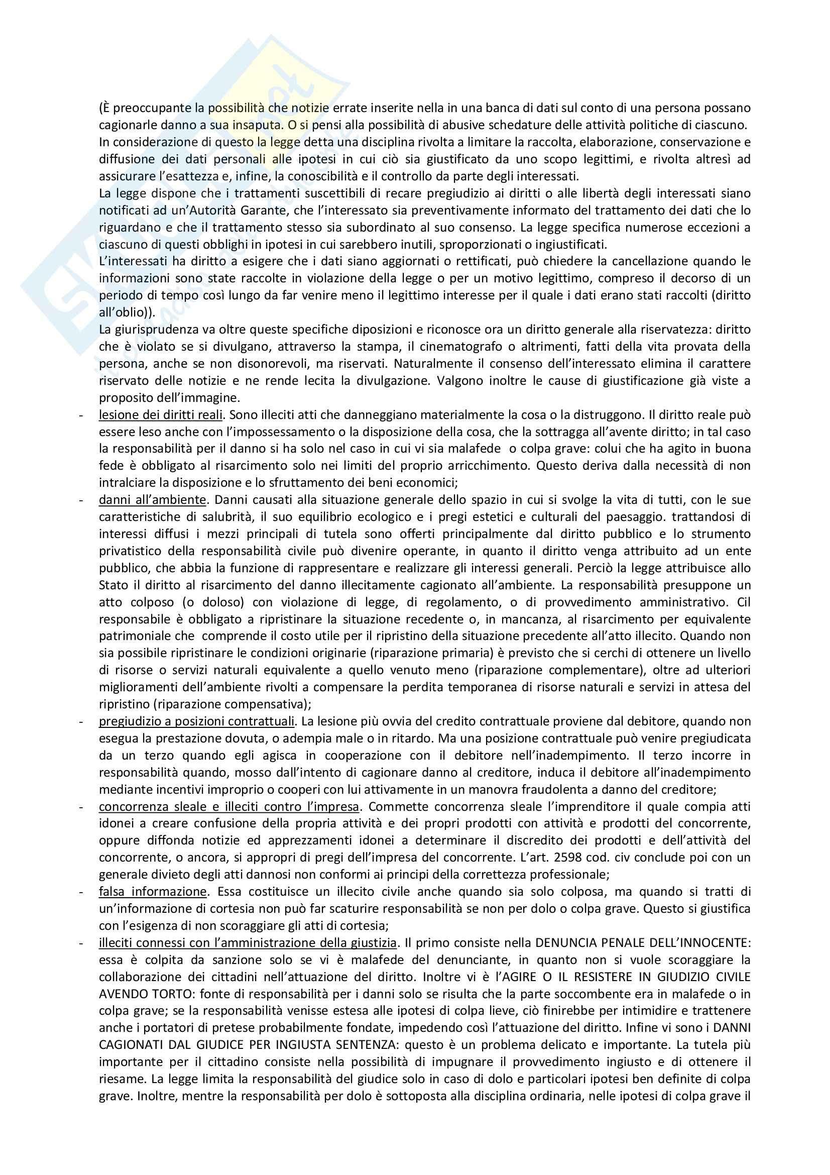 Riassunto esame Diritto Privato, prof. Villa, libro consigliato Istituzioni di Diritto Privato, Trimarchi Pag. 2