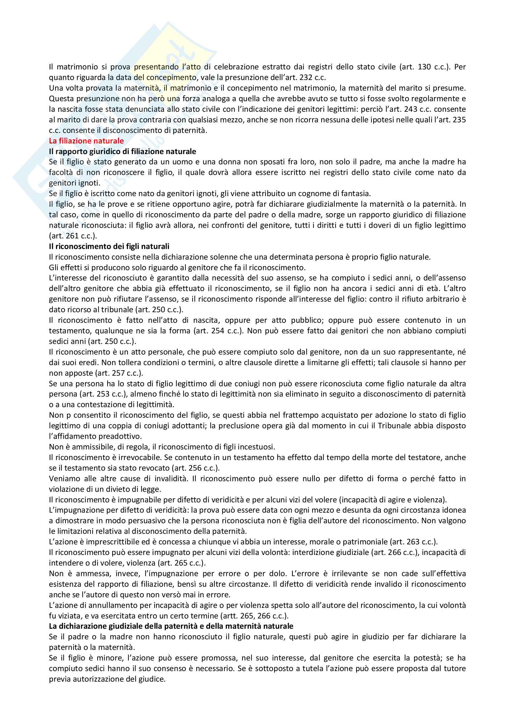 Riassunto esame Diritto Privato, prof. Villa, libro consigliato Istituzioni di Diritto Privato, Trimarchi Pag. 56