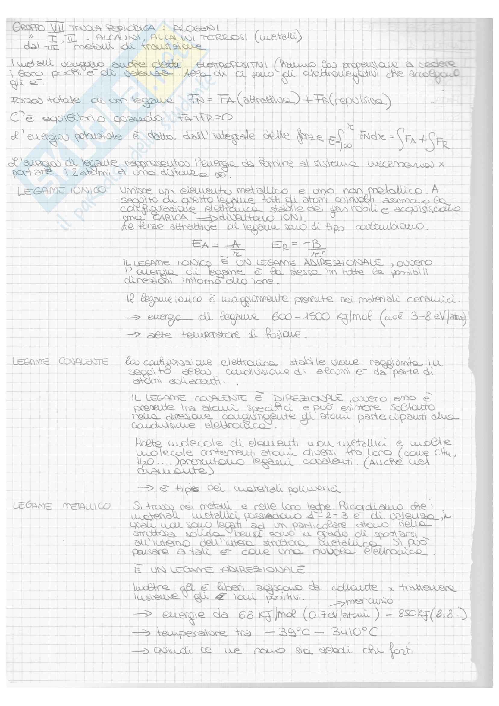 Riassunto esame Scienza e tecnologia, prof. Zucchini, libro consigliato Scienza e ingegneria dei materiali, Callister Pag. 2