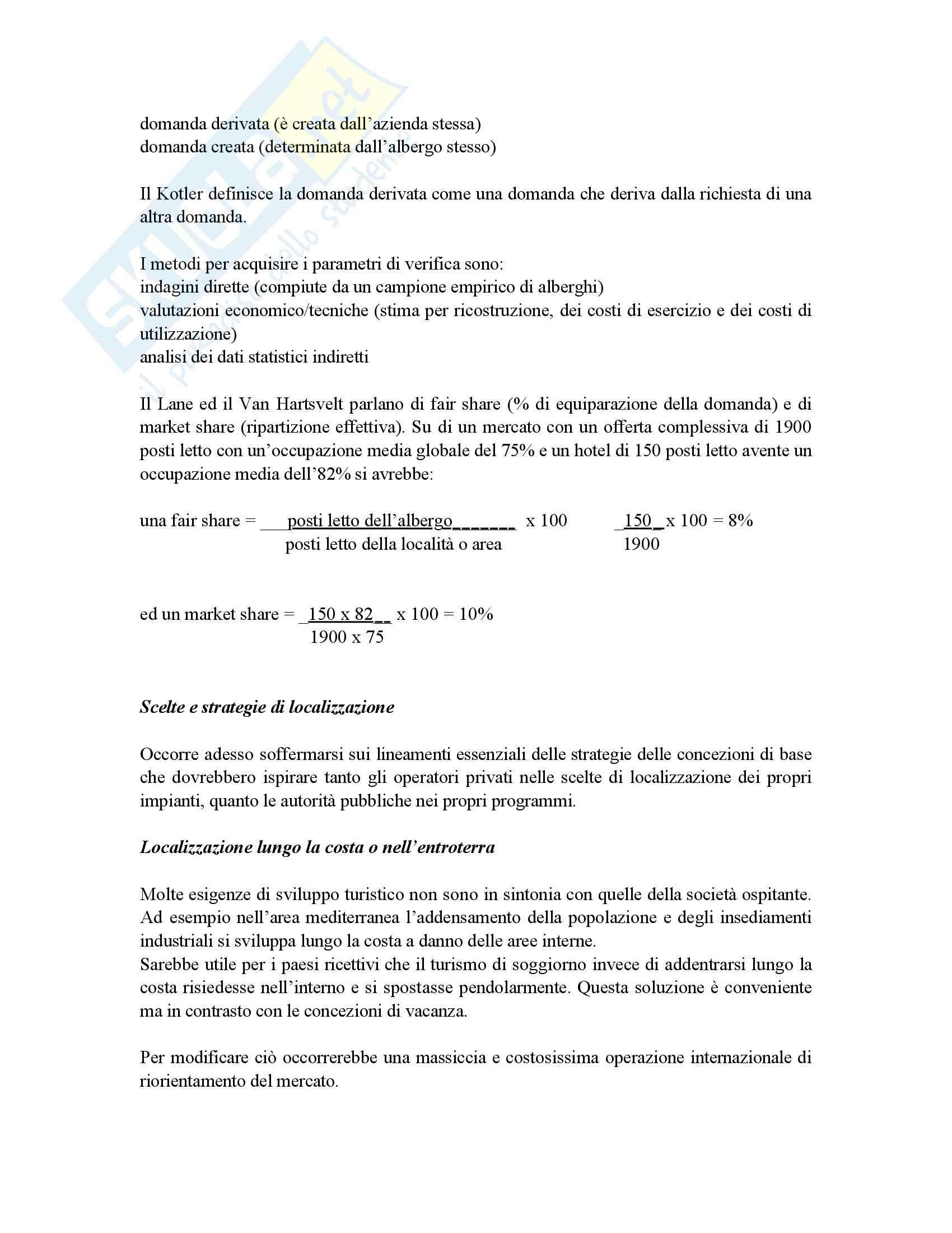 Riassunto esame Economia, prof. Gigli, libro consigliato Economia e management delle imprese alberghiere, Peroni Pag. 6