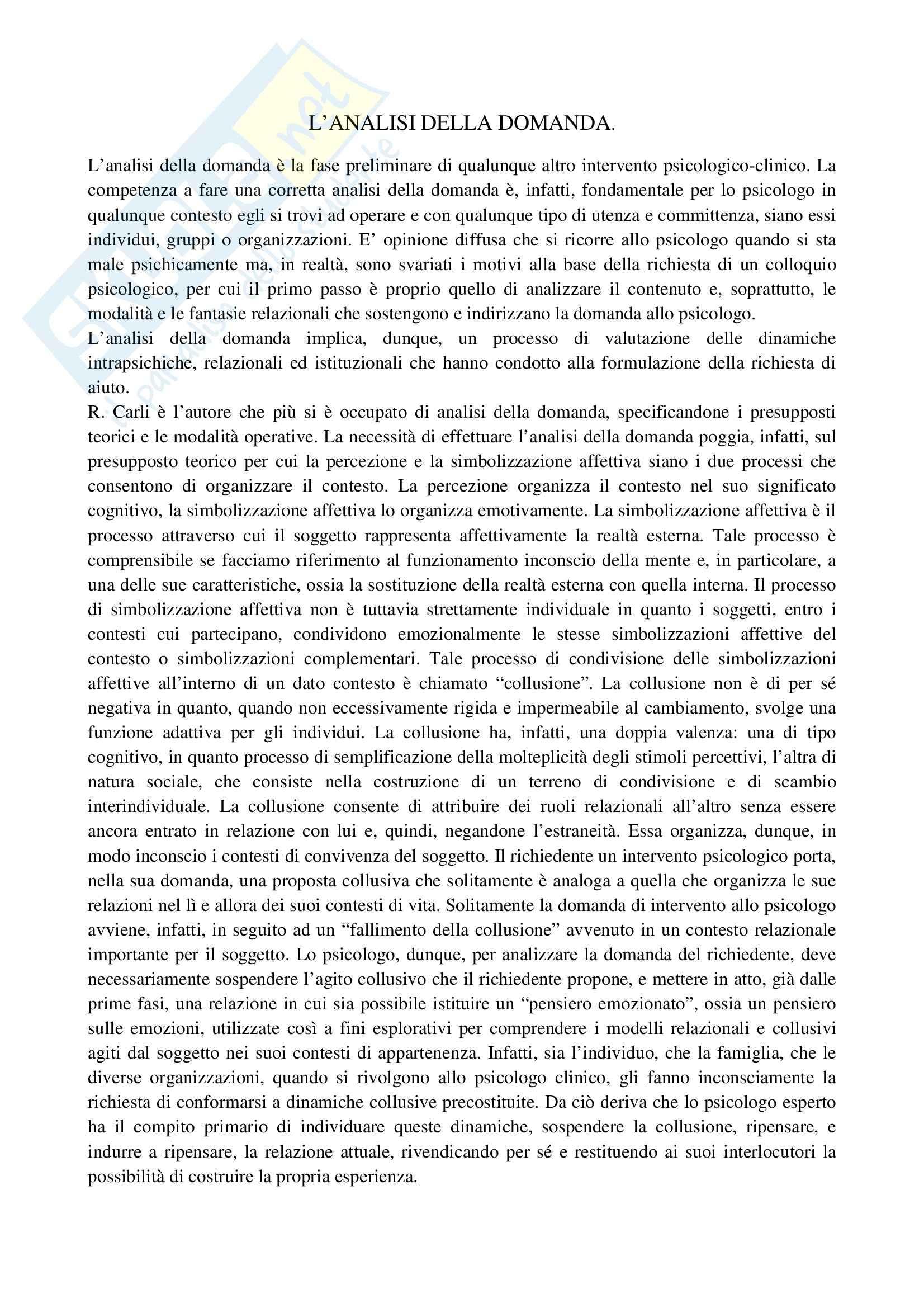 TEMI SVOLTI ESAME DI STATO PSICOLOGO PRIMA PARTE Pag. 6