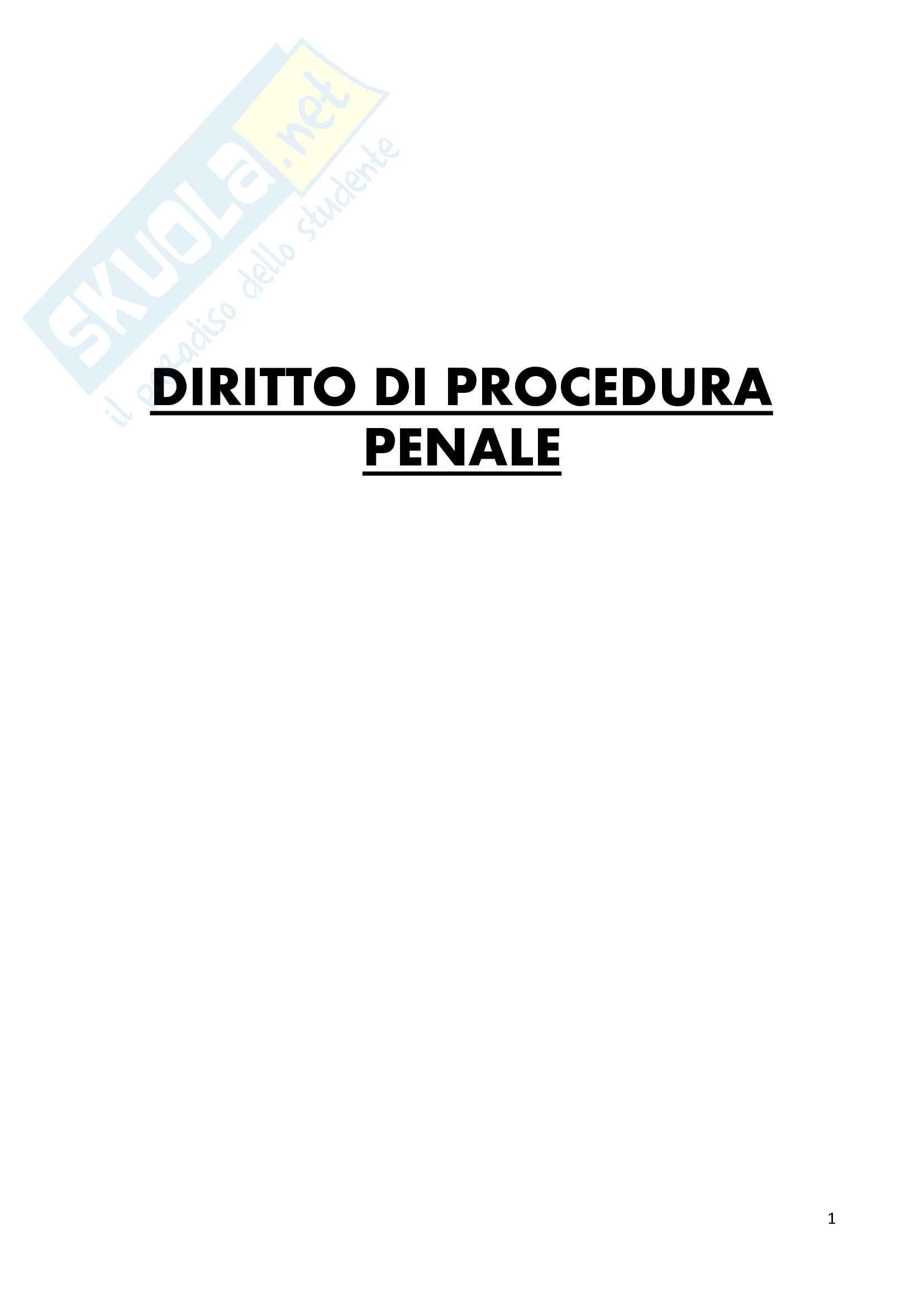 Riassunto esame diritto di procedura penale, prof. Deganello, libro consigliato Scaparone, vol 1 e 2