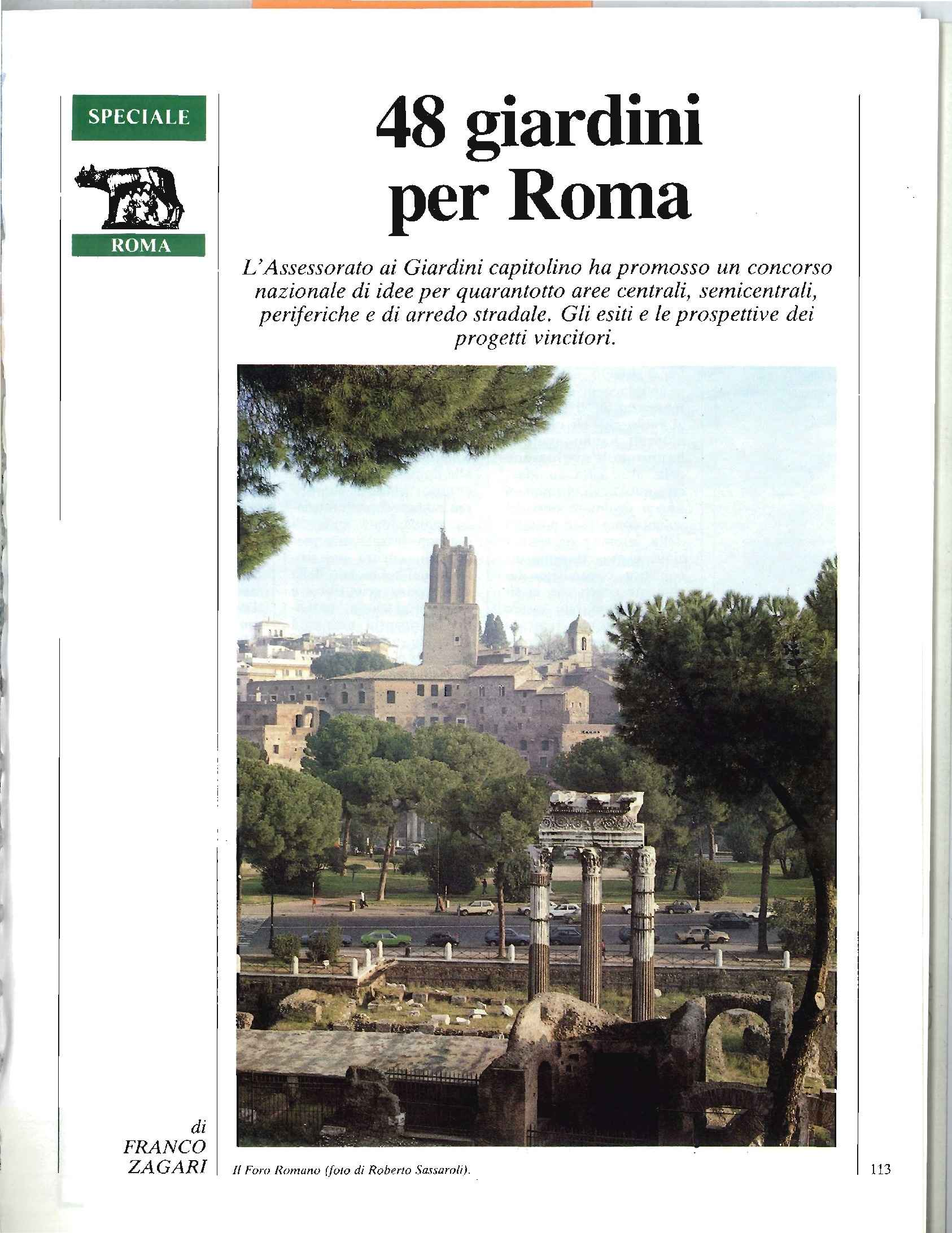 Quarantotto Giardini per Roma