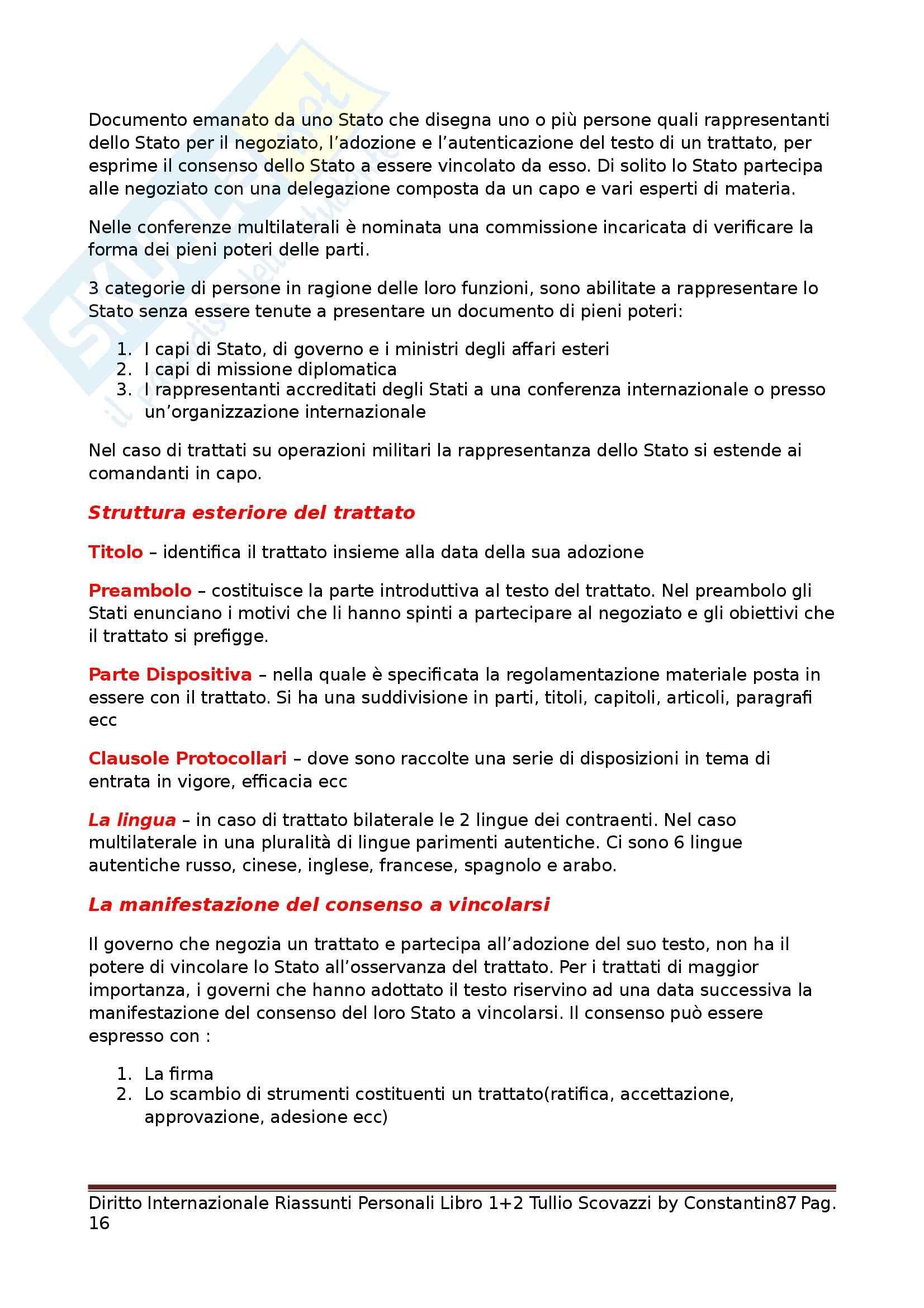 Riassunto esame Diritto Internazionale, prof. Scovazzi, libro consigliato Corso di Diritto Internazionale: Libri I e II Pag. 16
