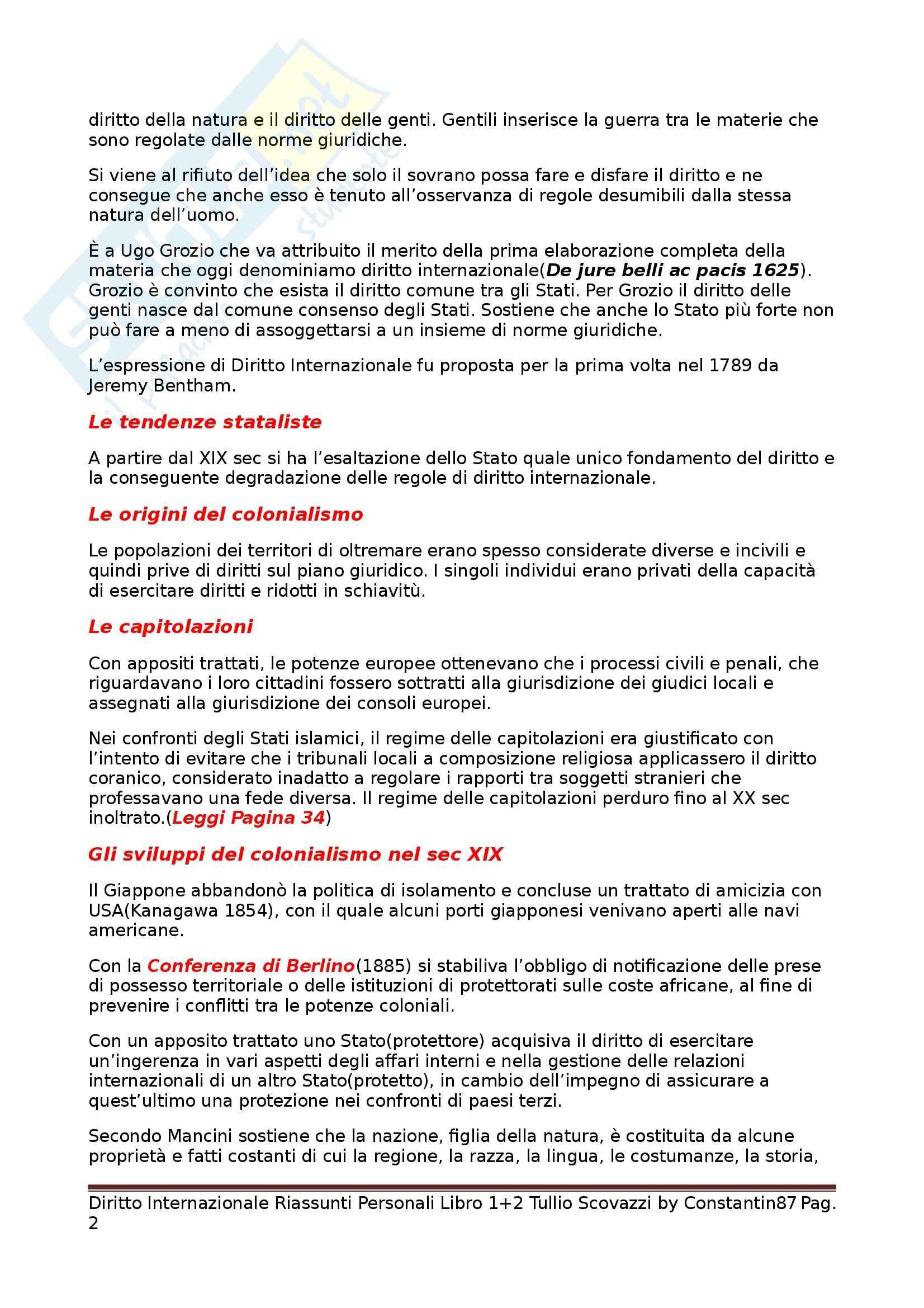 Riassunto esame Diritto Internazionale, prof. Scovazzi, libro consigliato Corso di Diritto Internazionale: Libri I e II Pag. 2