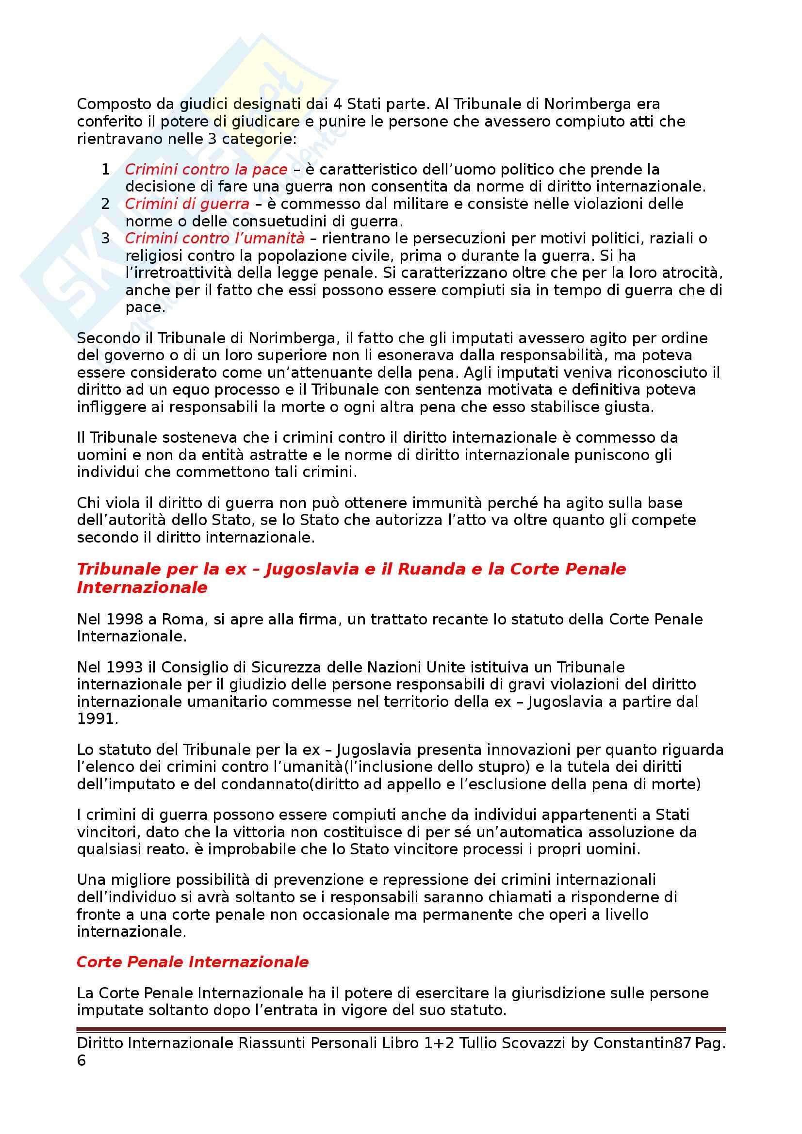 Riassunto esame Diritto Internazionale, prof. Scovazzi, libro consigliato Corso di Diritto Internazionale: Libri I e II Pag. 6