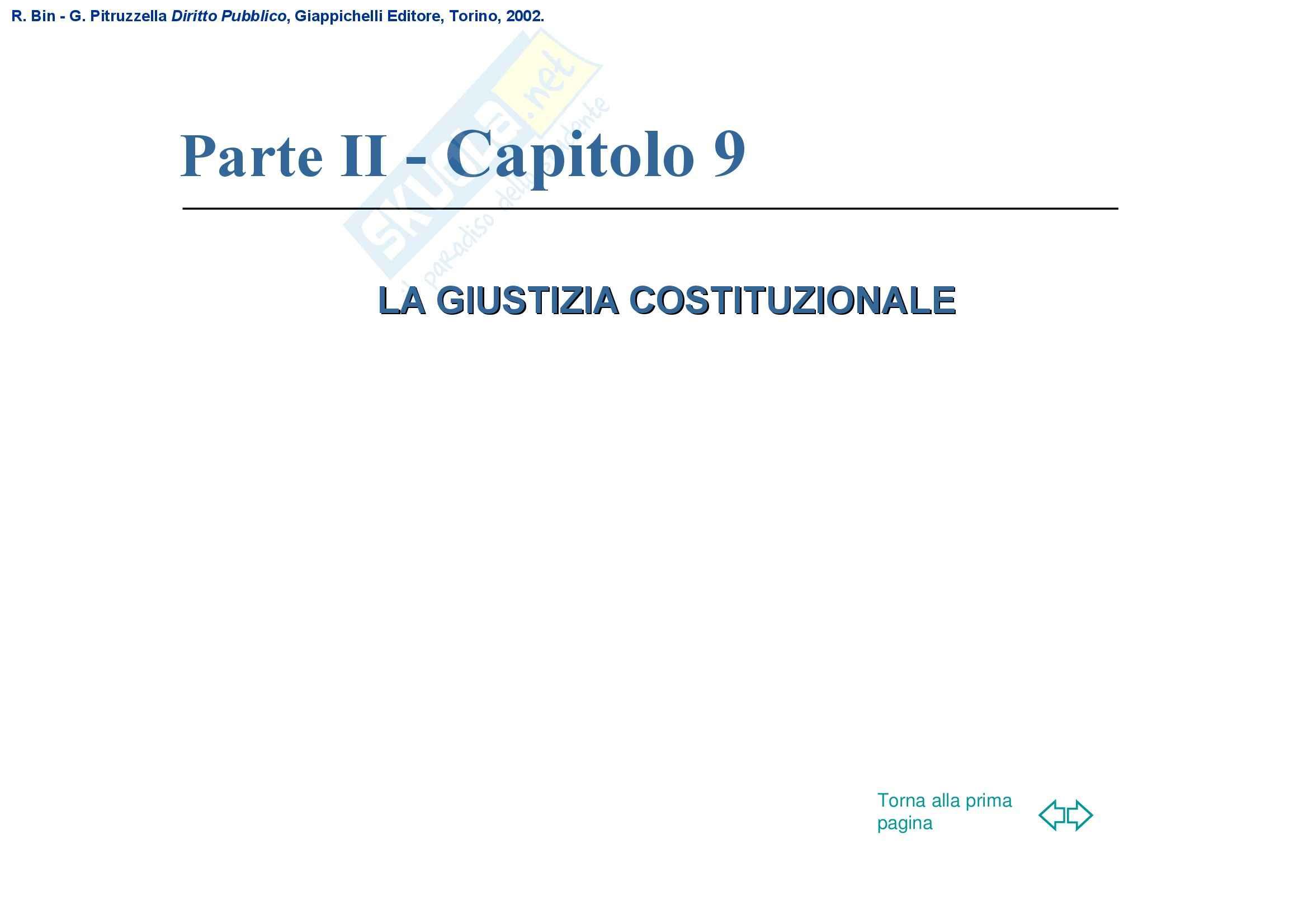 Diritto pubblico – Giustizia costituzionale