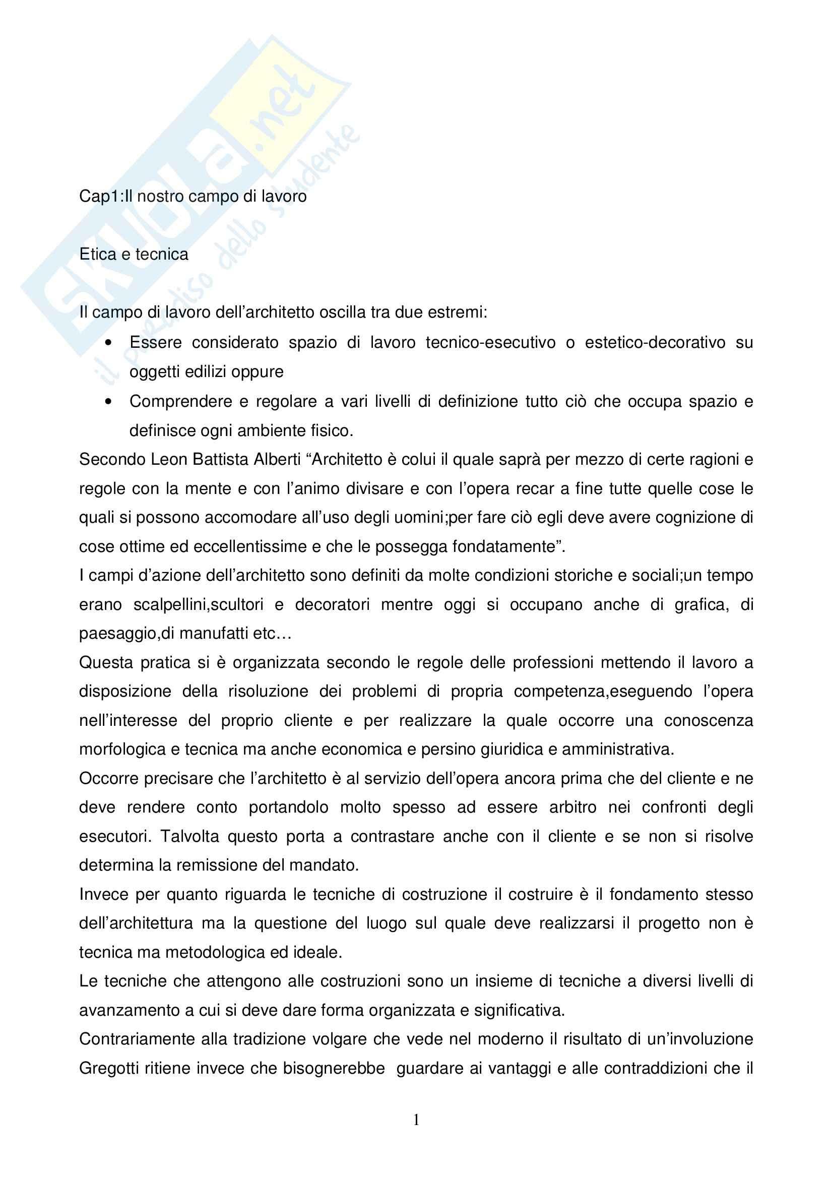 Riassunto esame PROGETTAZINE ARCHITETTONICA, prof. Merlini, libro consigliato Sulle orme di Palladio, Gregotti