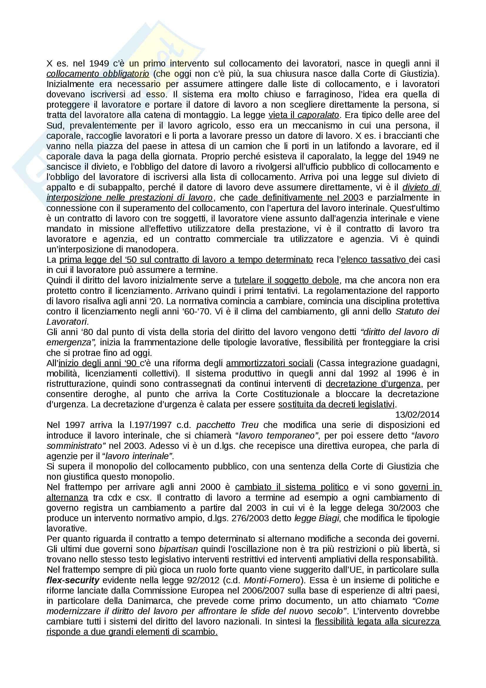 Diritto del Lavoro - Appunti seconda parte Pag. 2