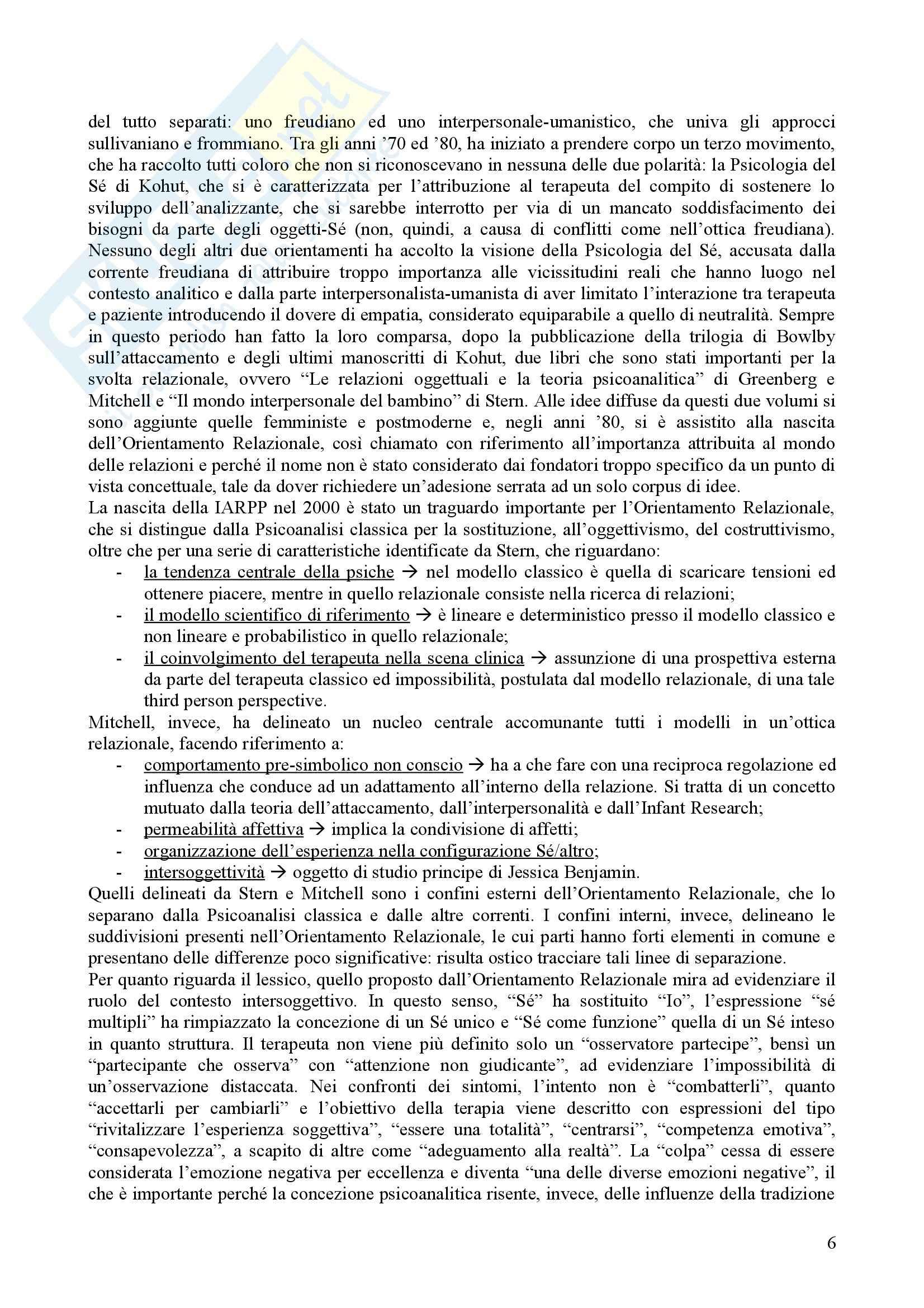 Riassunto esame Psicologia Dinamica, prof. Nespoli, libro consigliato La Svolta Relazionale, Lingiardi Pag. 6
