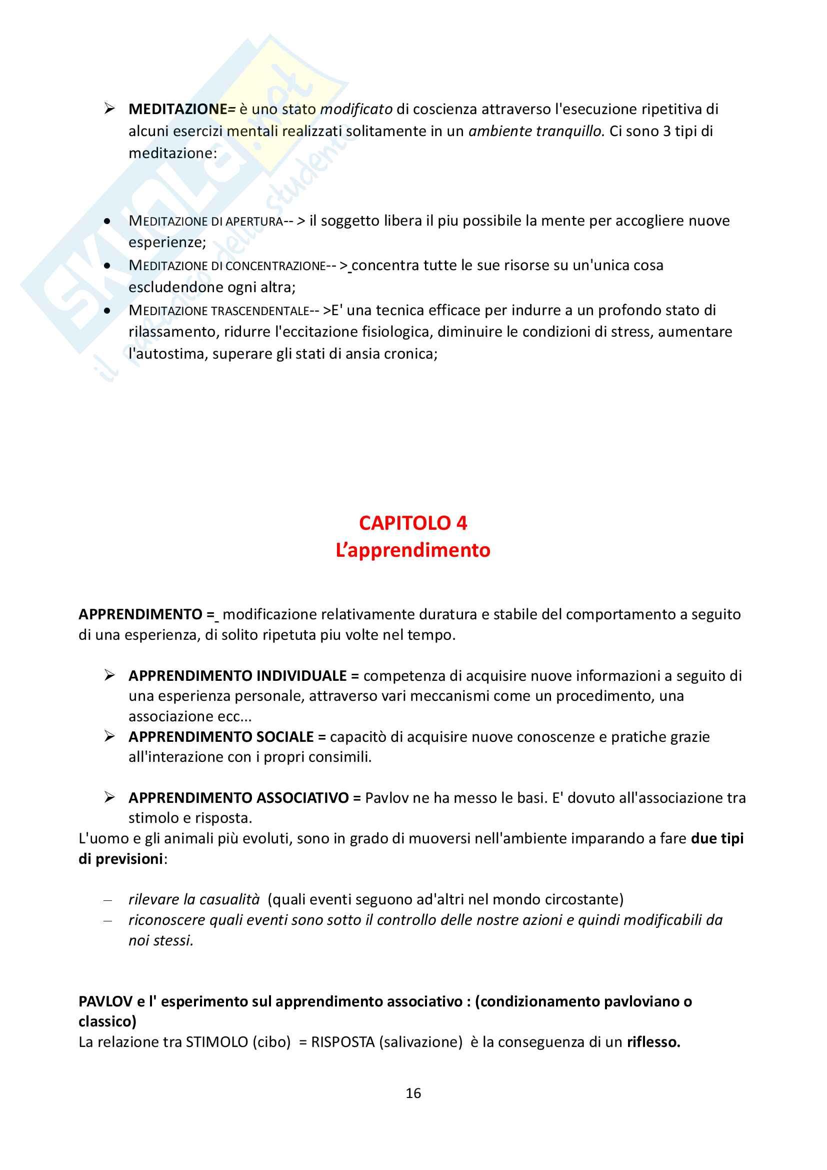 """Riassunto esame Psicologia Generale, docente Federici, libro consigliato """"Psicologia Generale"""" di L. Anolli e P. Legrenzi Pag. 16"""