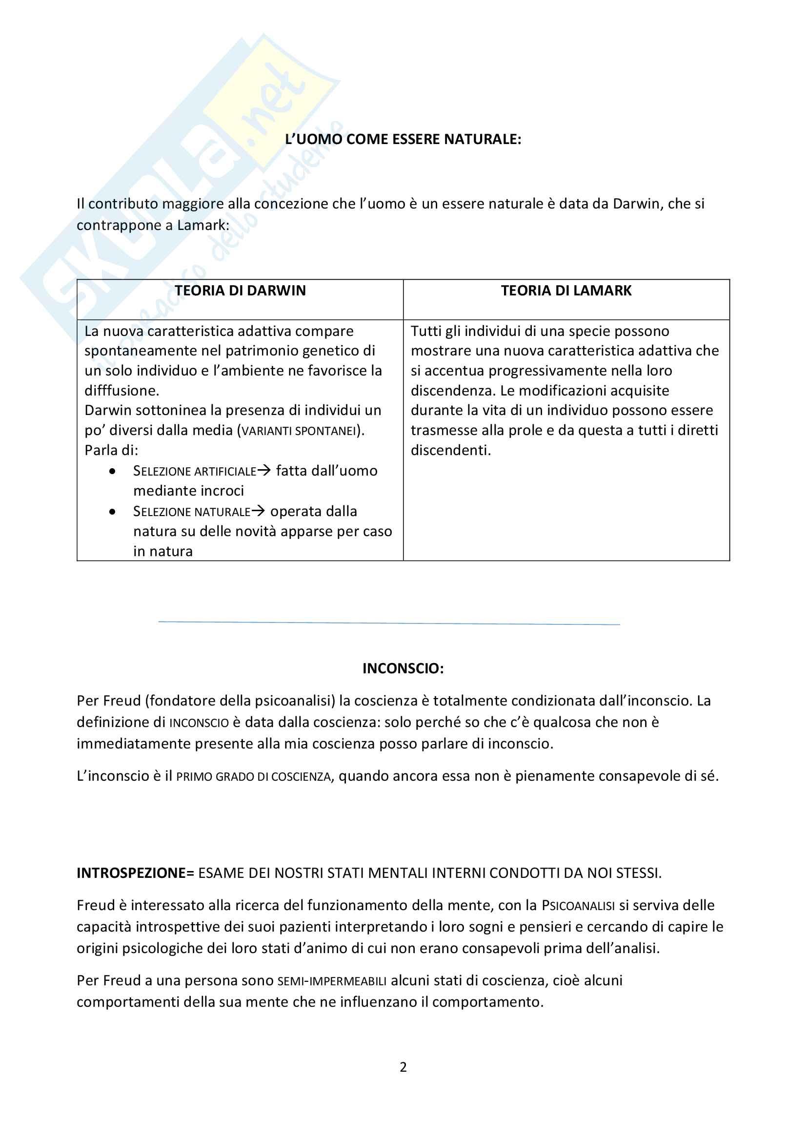 """Riassunto esame Psicologia Generale, docente Federici, libro consigliato """"Psicologia Generale"""" di L. Anolli e P. Legrenzi Pag. 2"""