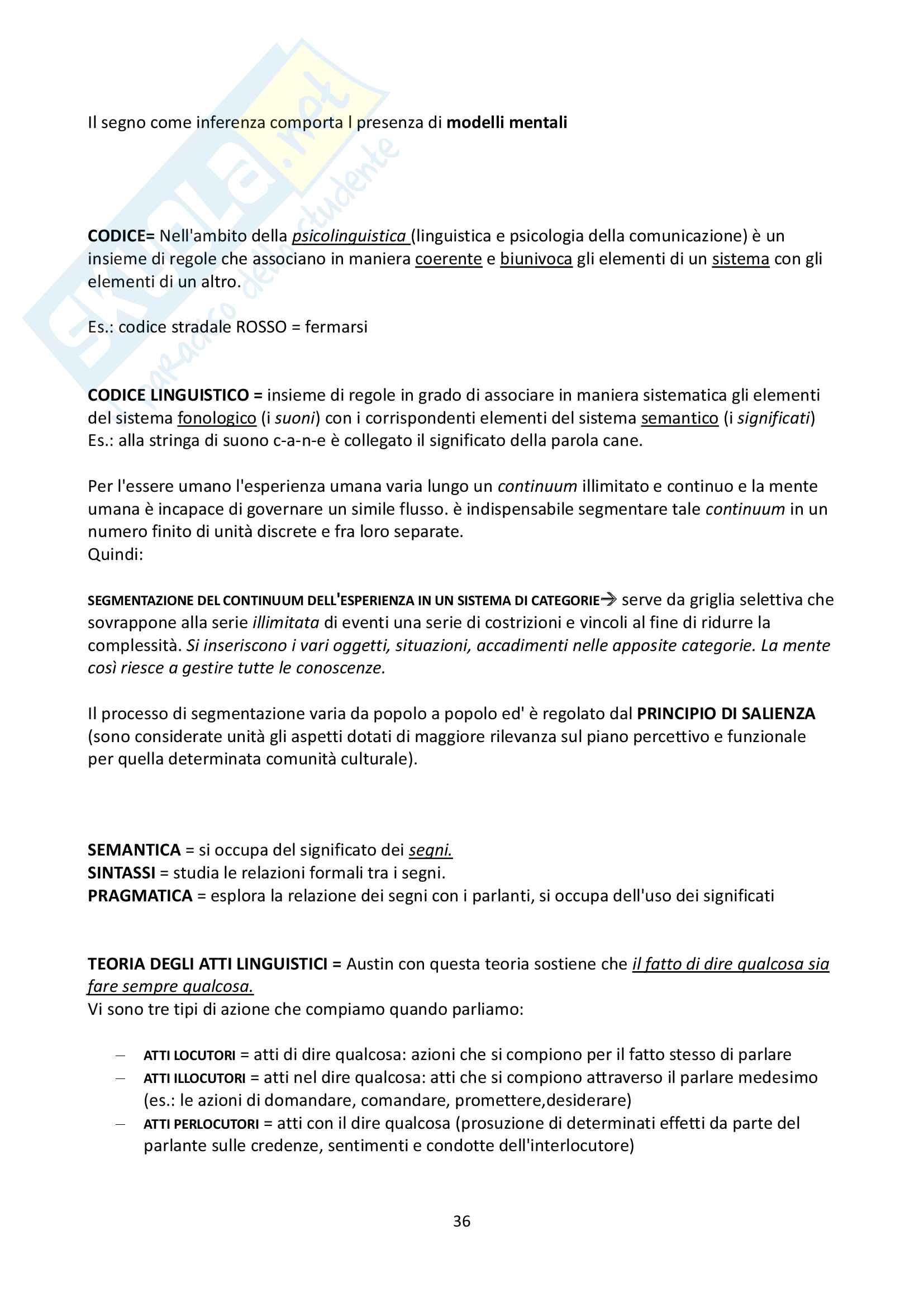 """Riassunto esame Psicologia Generale, docente Federici, libro consigliato """"Psicologia Generale"""" di L. Anolli e P. Legrenzi Pag. 36"""