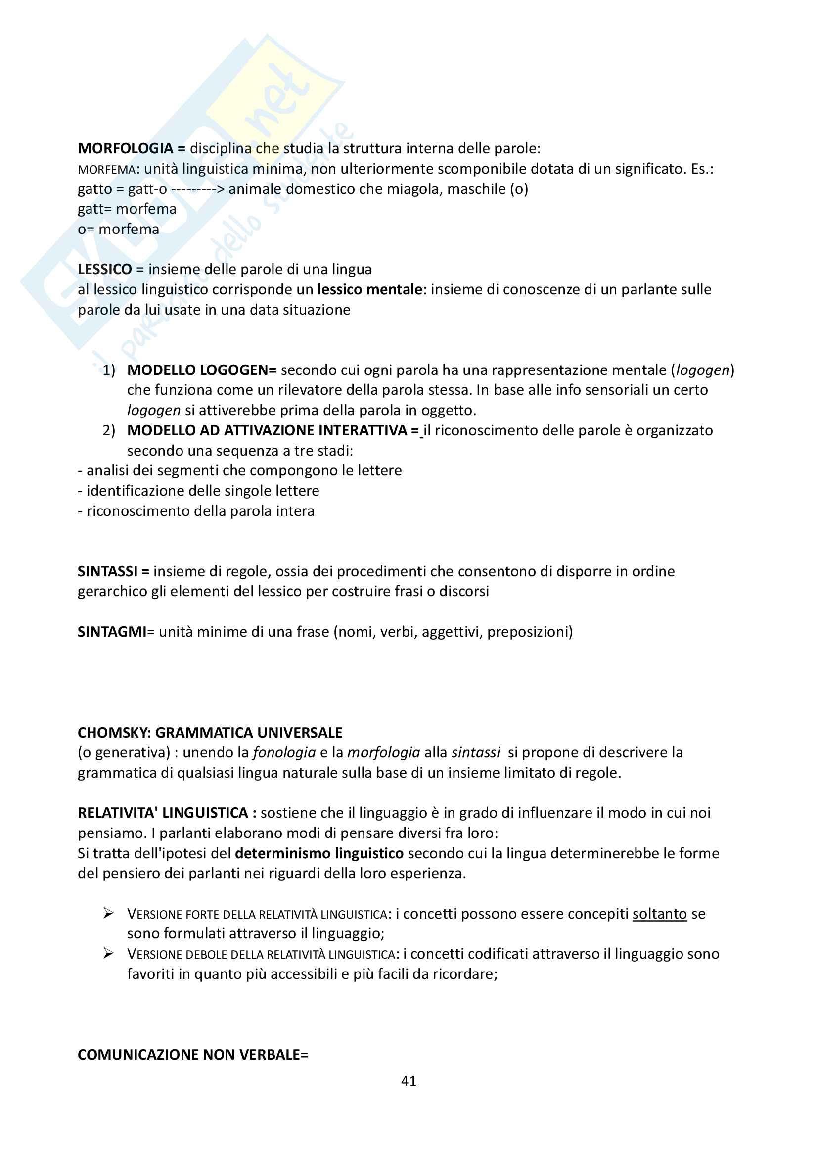 """Riassunto esame Psicologia Generale, docente Federici, libro consigliato """"Psicologia Generale"""" di L. Anolli e P. Legrenzi Pag. 41"""