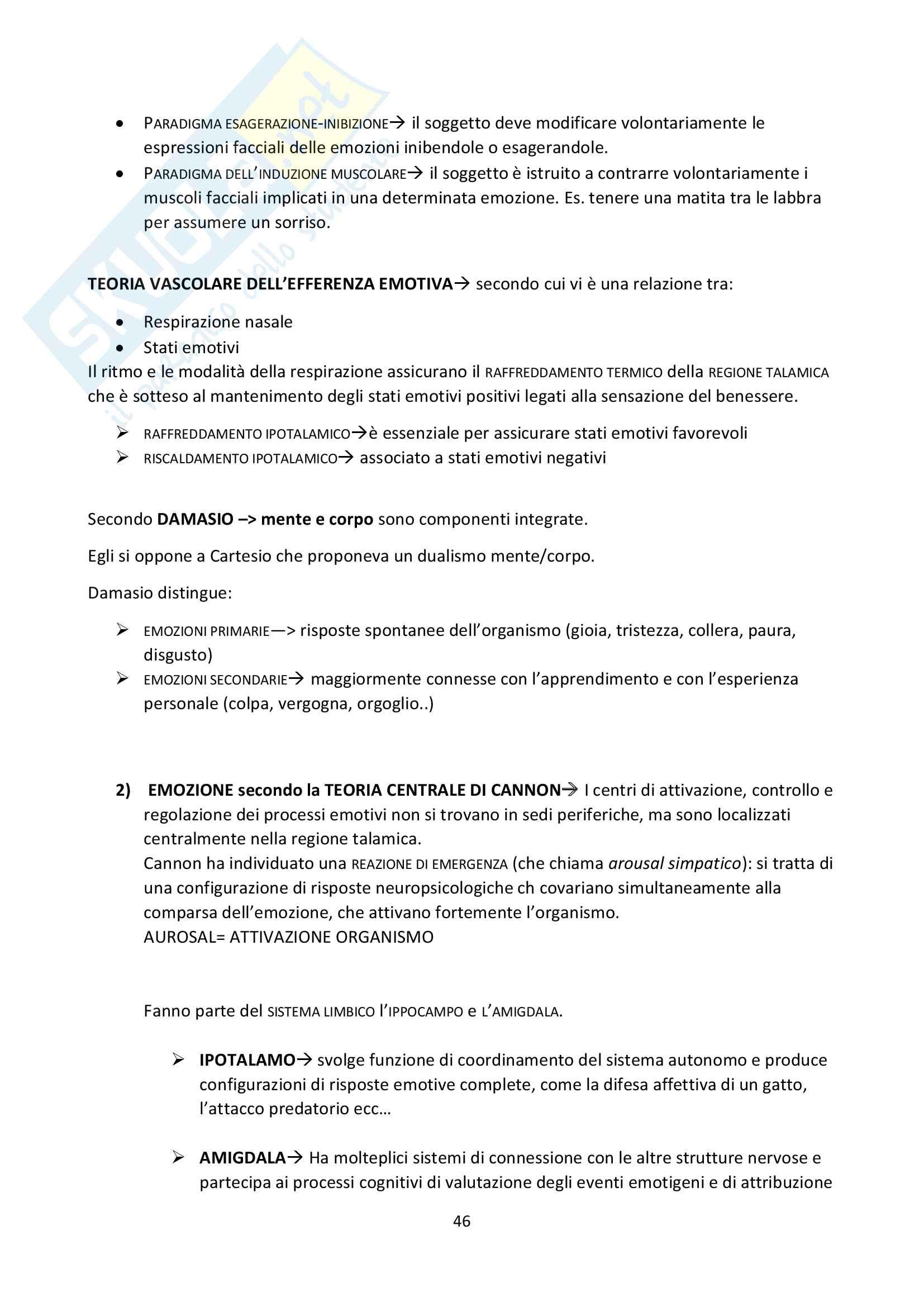 """Riassunto esame Psicologia Generale, docente Federici, libro consigliato """"Psicologia Generale"""" di L. Anolli e P. Legrenzi Pag. 46"""