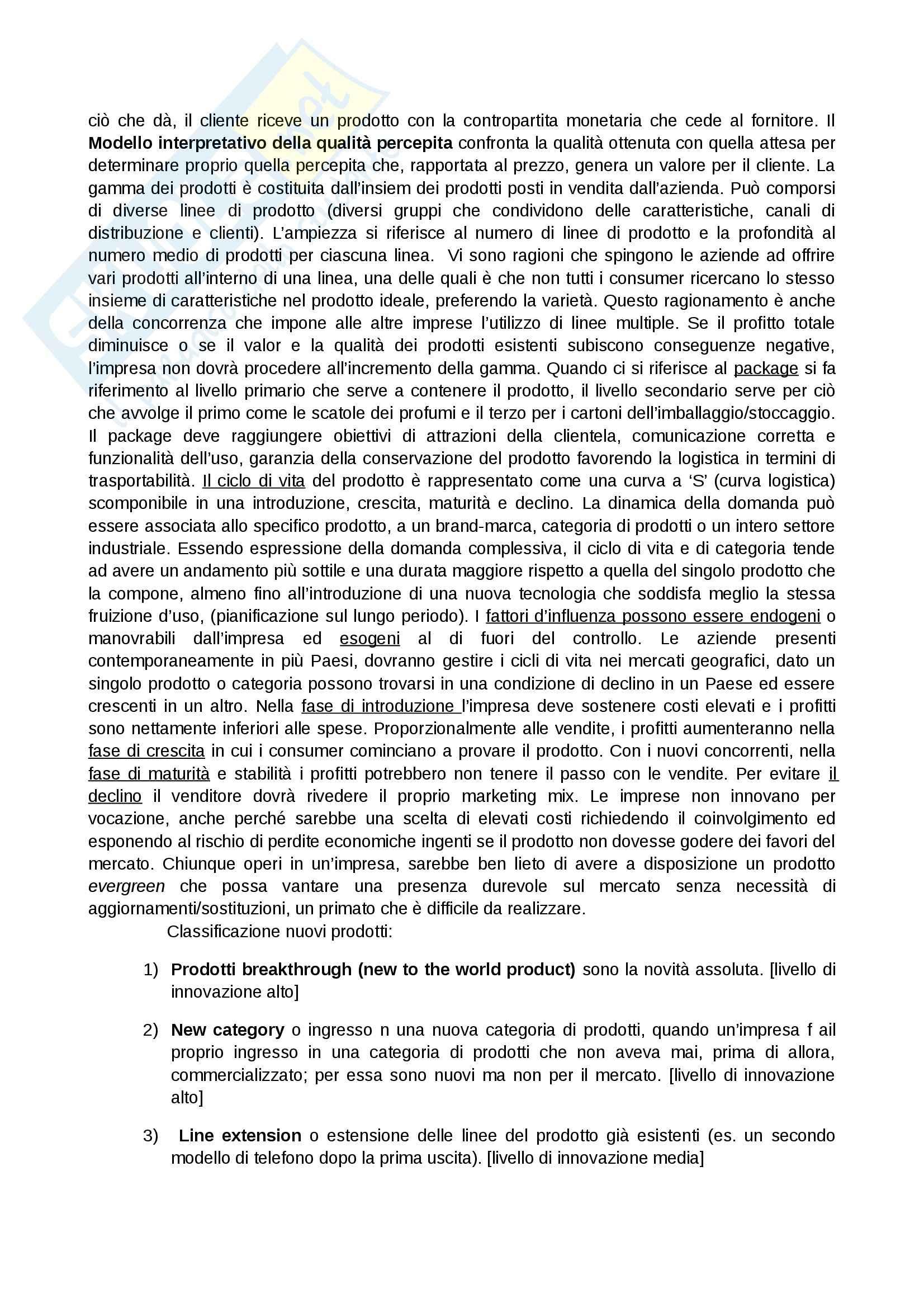 Riassunto esame Marketing, prof. Addamiano, libro consigliato Marketing di Peter, Donnelly, Pratesi Pag. 21