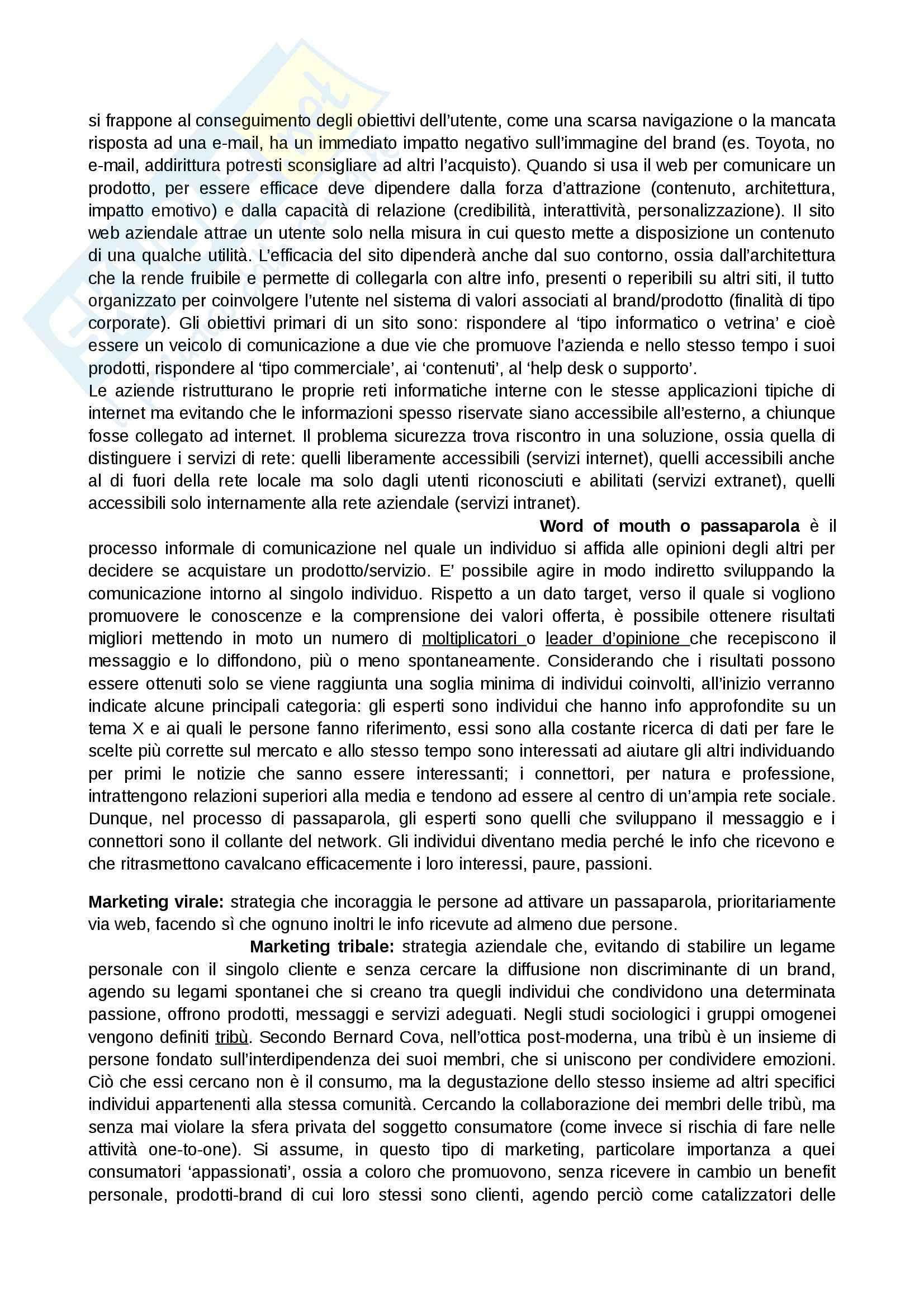 Riassunto esame Marketing, prof. Addamiano, libro consigliato Marketing di Peter, Donnelly, Pratesi Pag. 31