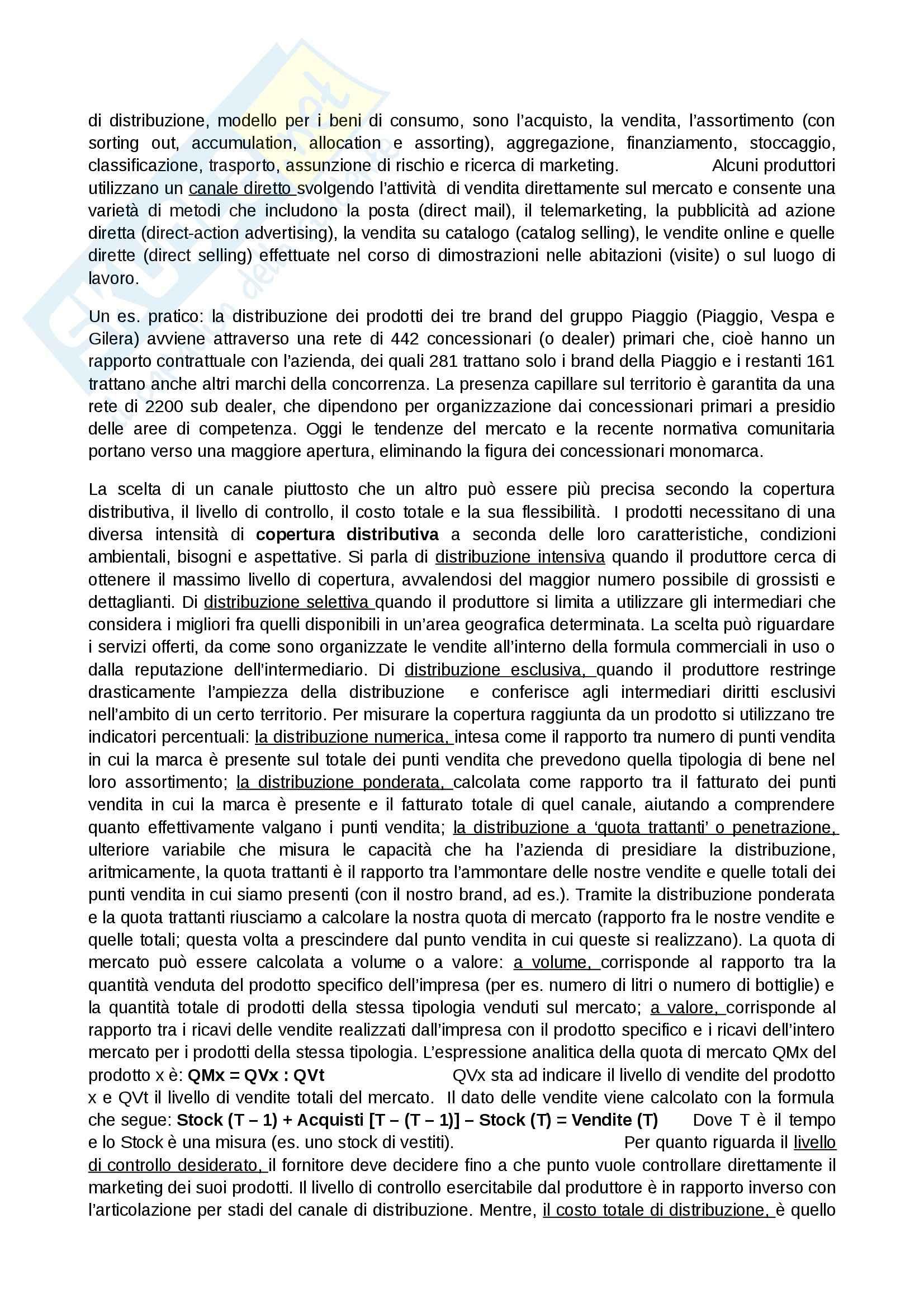 Riassunto esame Marketing, prof. Addamiano, libro consigliato Marketing di Peter, Donnelly, Pratesi Pag. 51