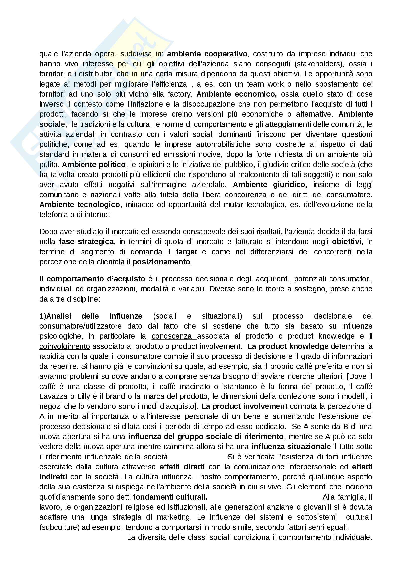 Riassunto esame Marketing, prof. Addamiano, libro consigliato Marketing di Peter, Donnelly, Pratesi Pag. 6