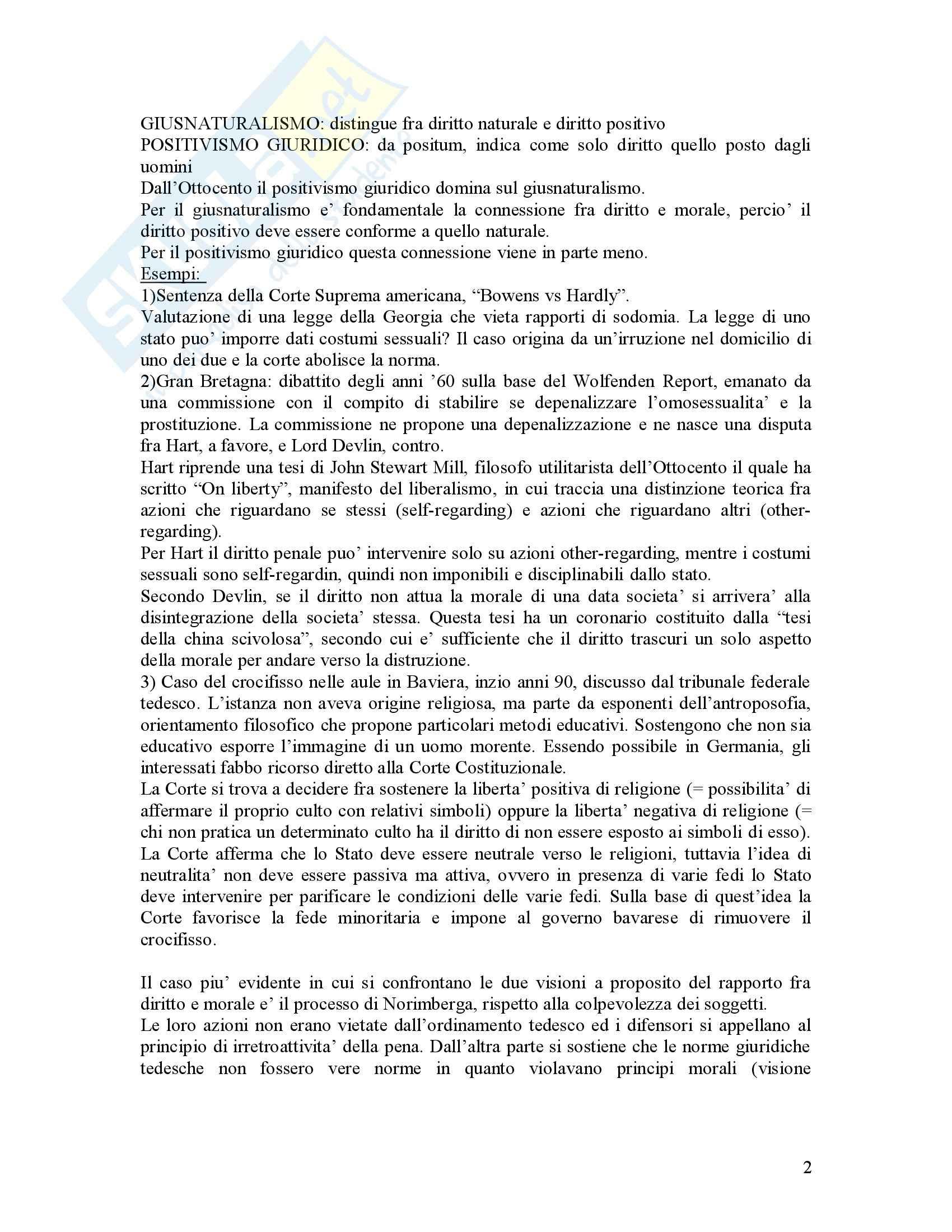 Filosofia del diritto - Riassunto esame, prof. Bongiovanni Pag. 2