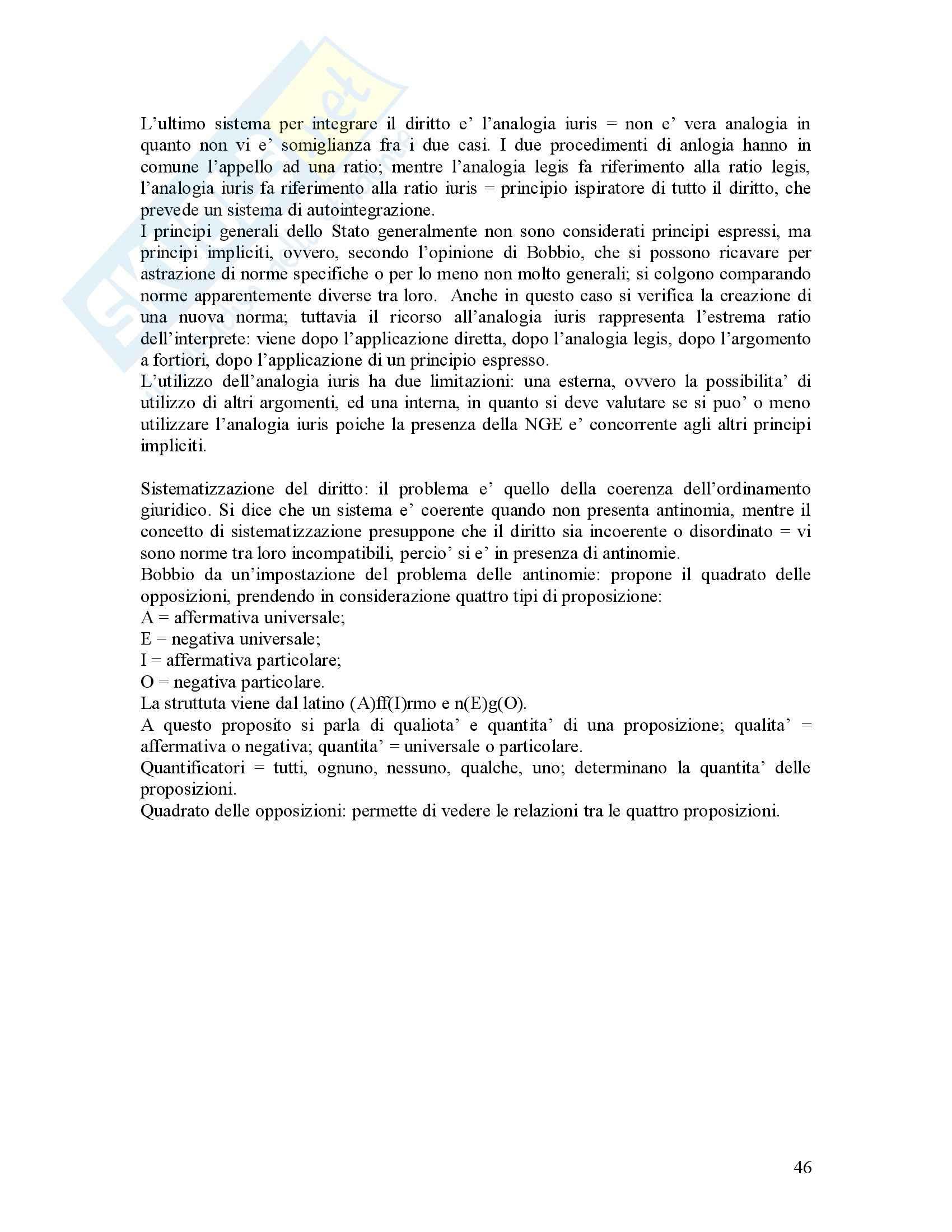 Filosofia del diritto - Riassunto esame, prof. Bongiovanni Pag. 46