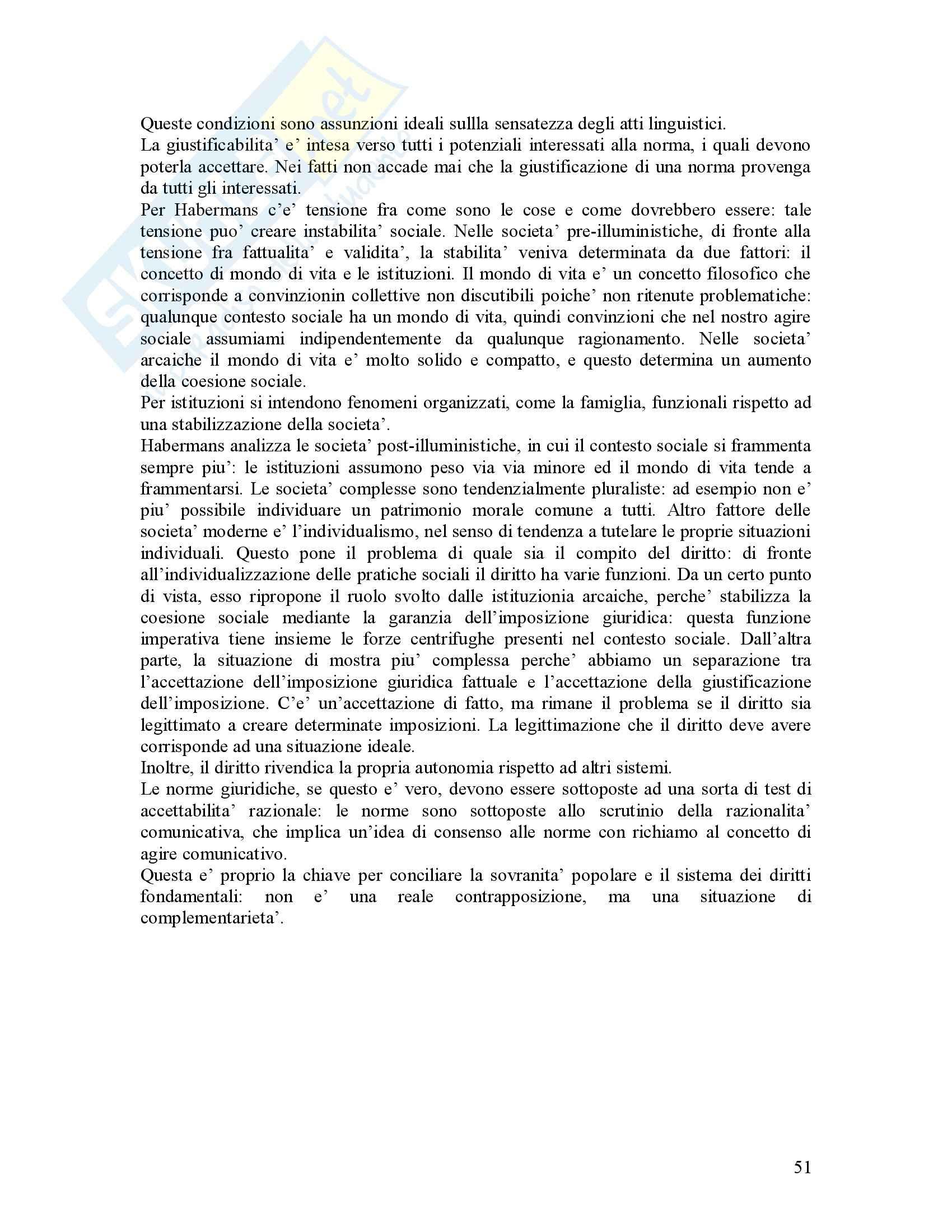 Filosofia del diritto - Riassunto esame, prof. Bongiovanni Pag. 51