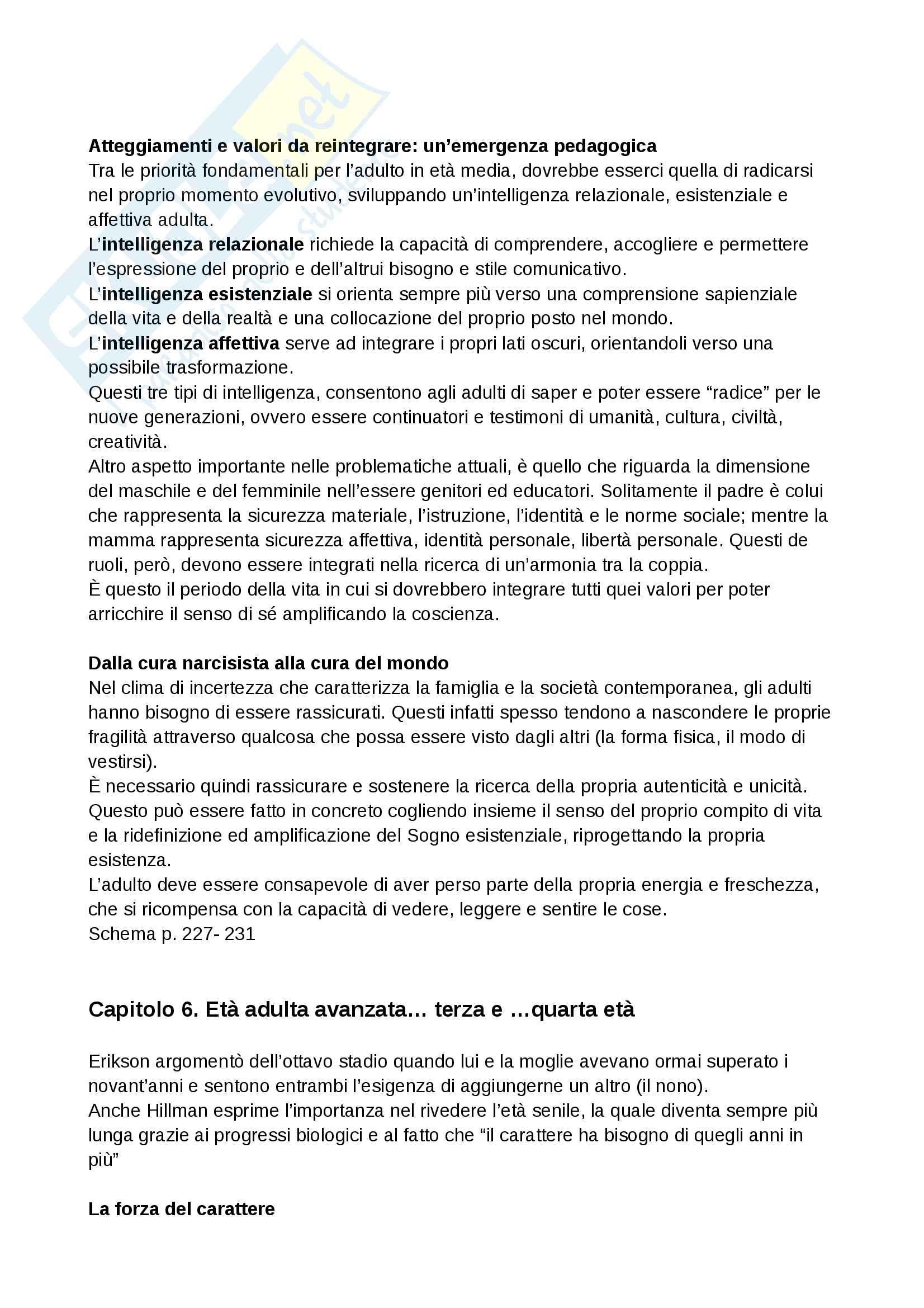 Riassunto esame Pedagogia interculturale, Prof. Naccari, Libro consigliato: Pedagogia dei cicli di vita in età adulta Pag. 11