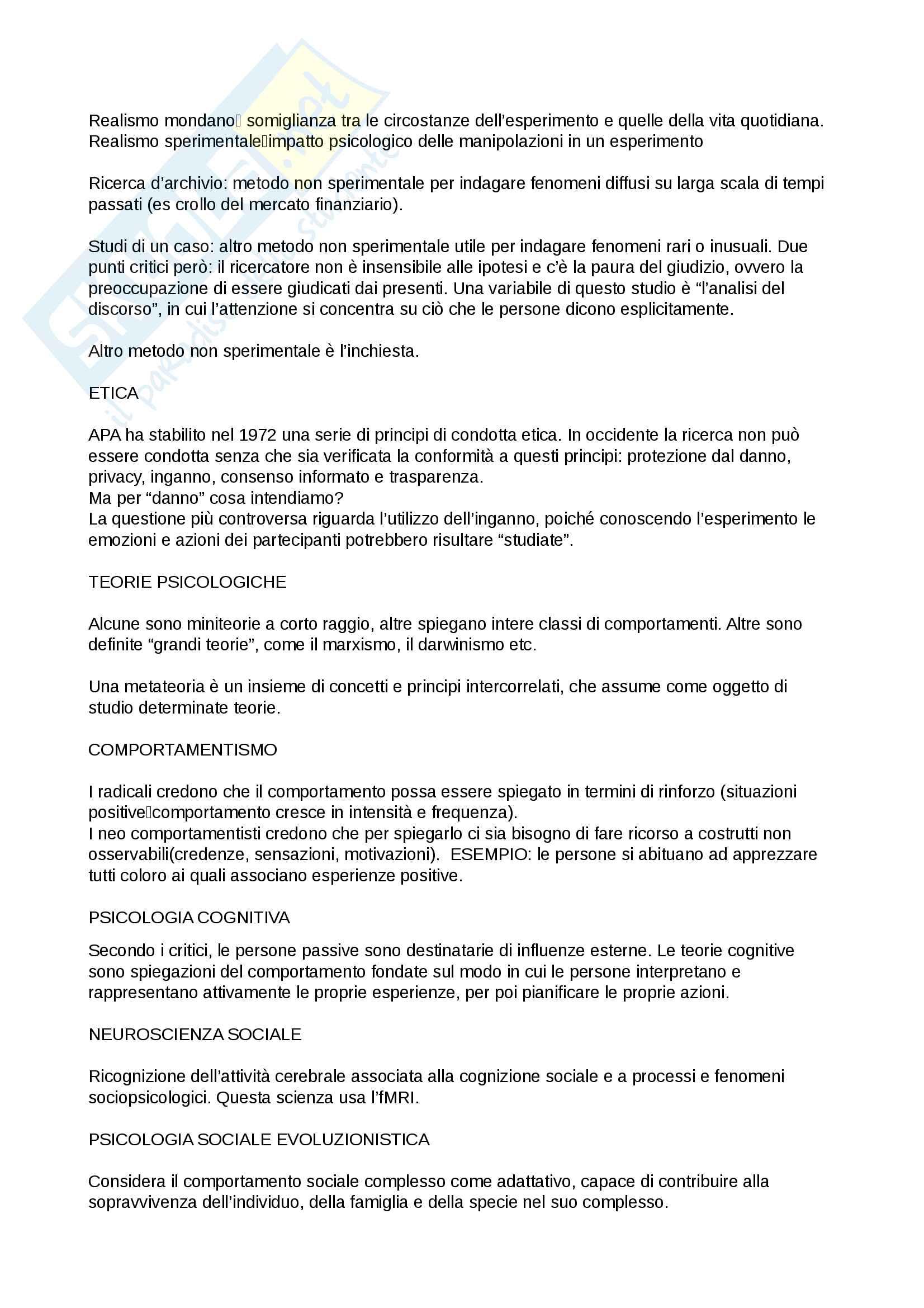 Riassunto esame Psicologia Sociale, prof. Boccato, libro consigliato Psicologia sociale,Hogg, Vaughan Pag. 2