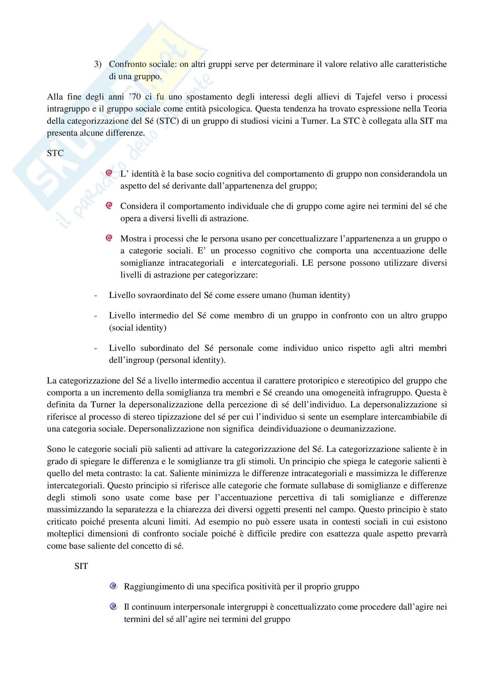 Riassunto esame Psicologia Sociale dei Gruppi, prof. Annese, libro consigliato I Gruppi Sociali di Speltini e Polmonari Pag. 46