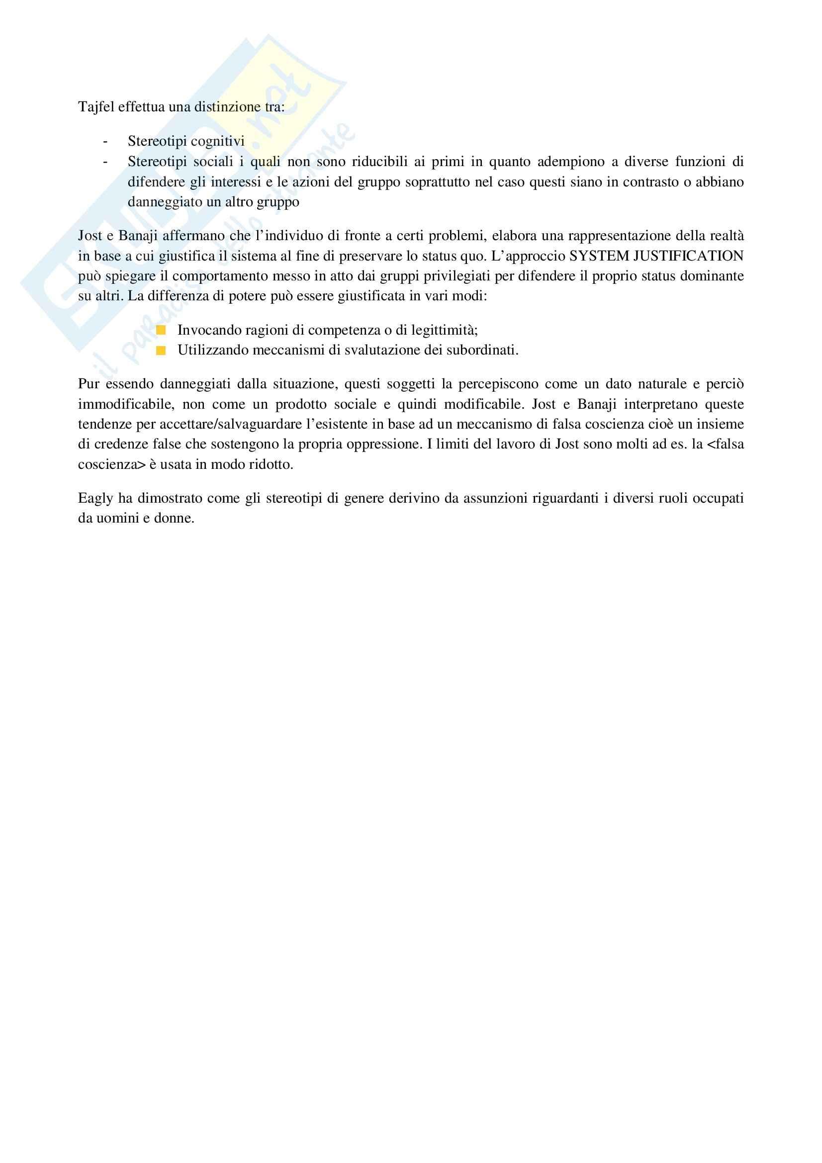 Riassunto esame Psicologia Sociale dei Gruppi, prof. Annese, libro consigliato I Gruppi Sociali di Speltini e Polmonari Pag. 51