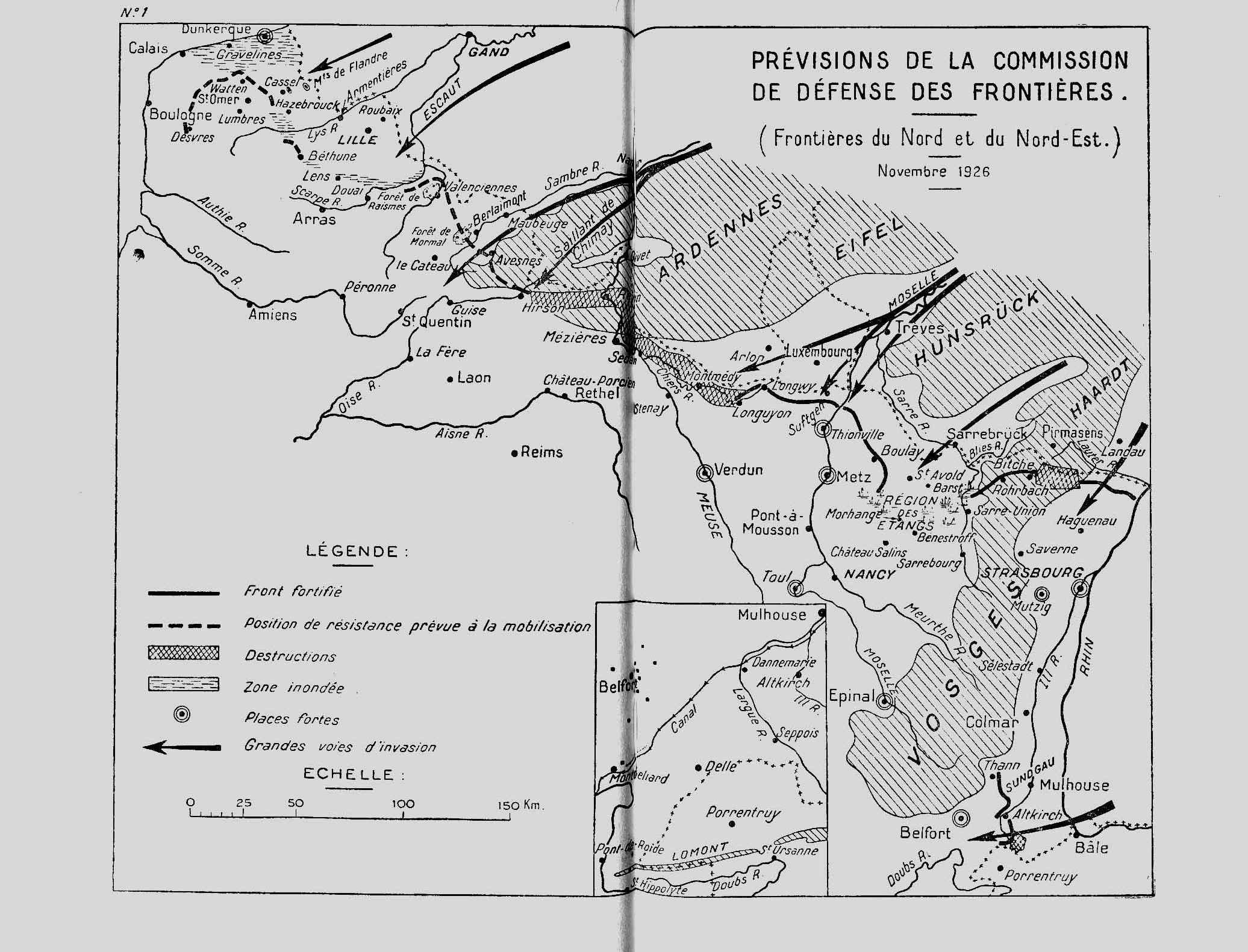 Linea Maginot, 1926