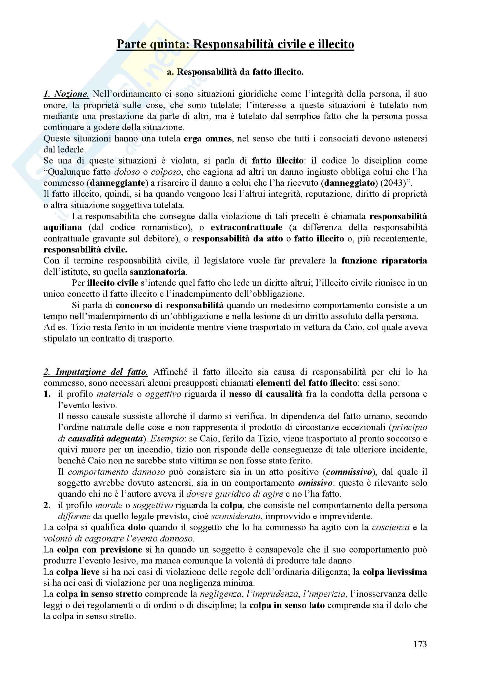 Diritto Civile - Perlingieri – Parte quinta – Riassunto esame