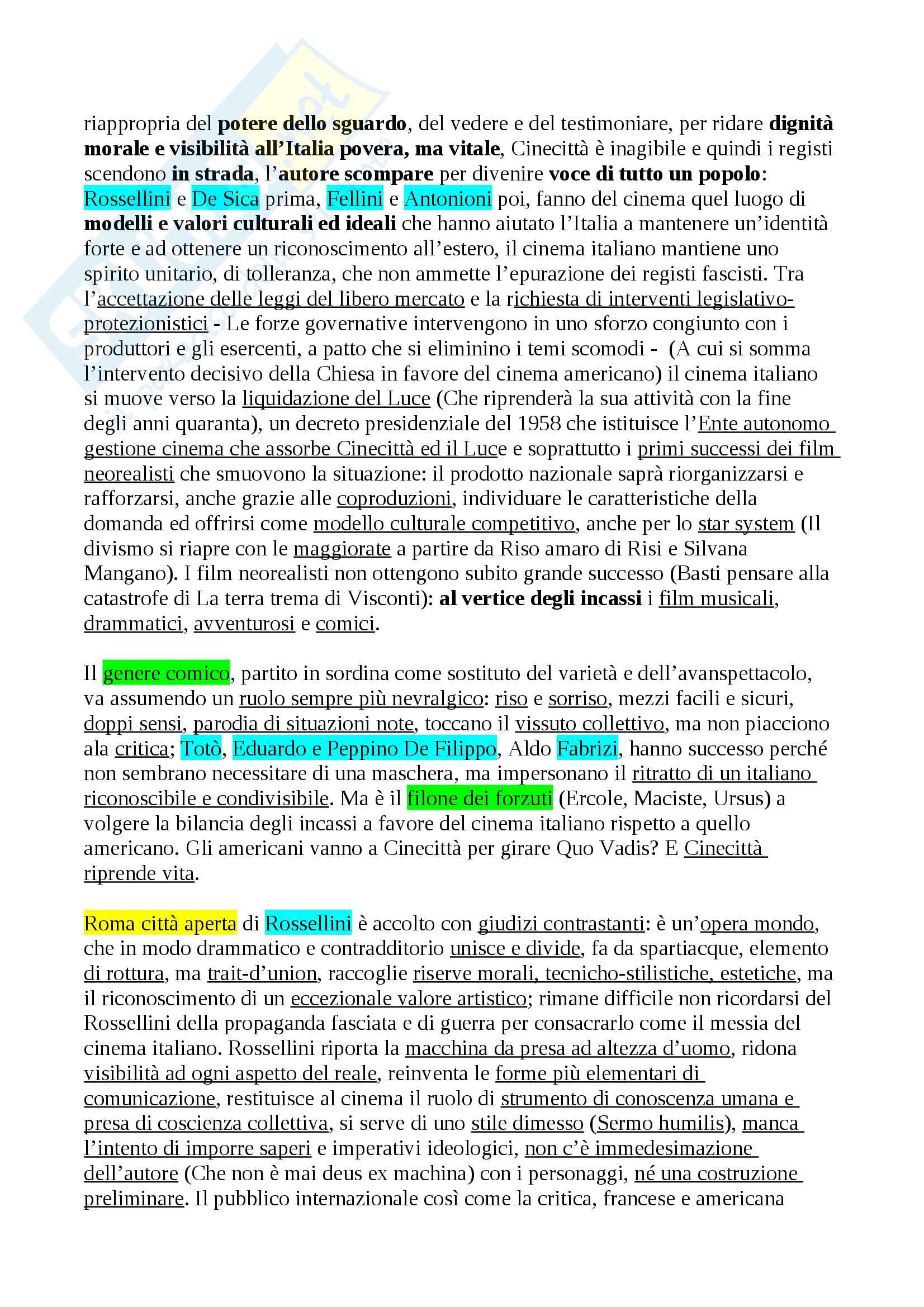 Riassunto esame Storia del Cinema Italiano, prof. Della Torre Pag. 11