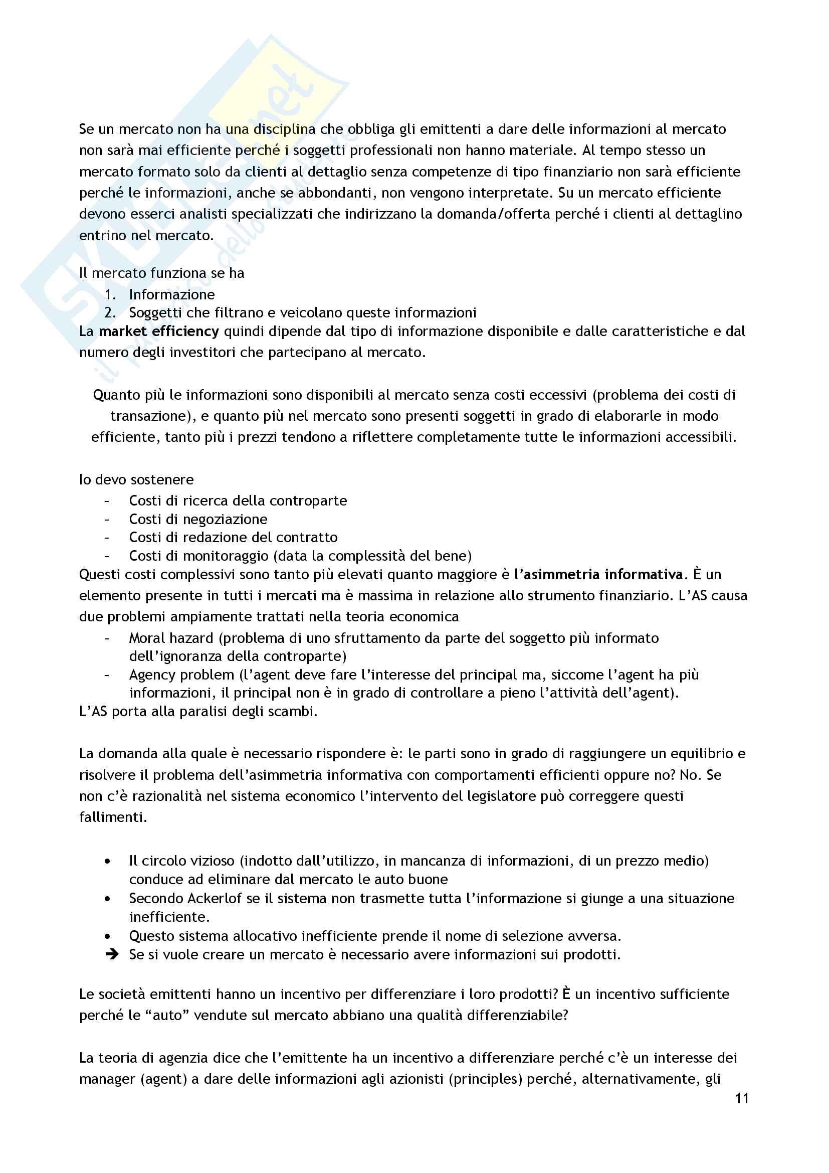 Appunti diritto dei mercati e degli intermediari Pag. 11