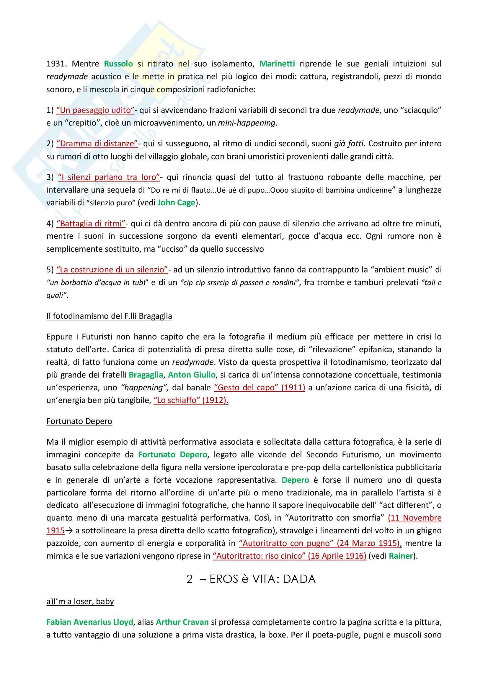 Riassunto esame storia dell'arte, prof. Gallo, libro consigliato Storia dell'arte contemporanea, Fabbri Pag. 6