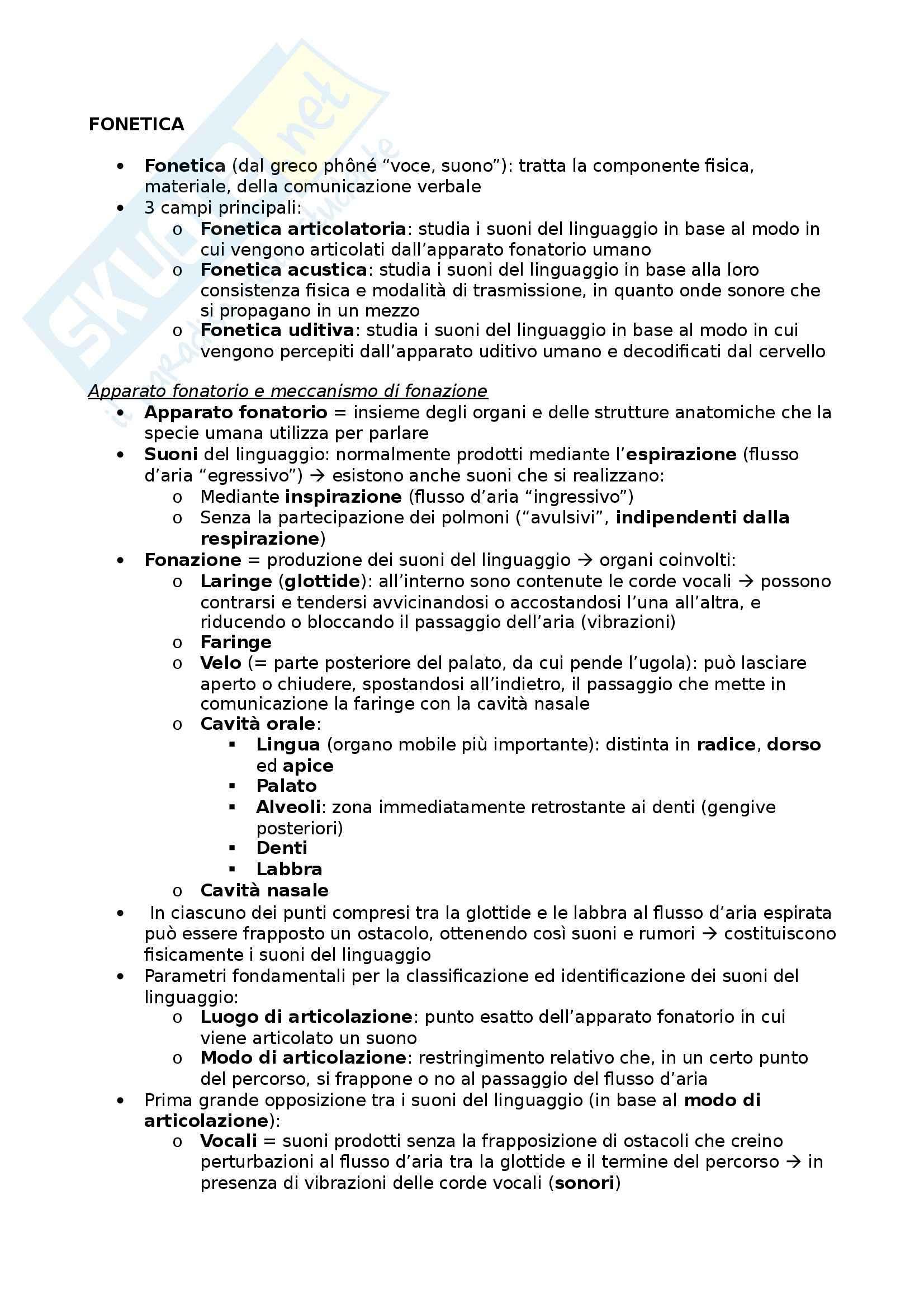 Riassunto esame Glottologia, prof. Bonfadini, libro consigliato La Linguistica: Un Corso Introduttivo, Berruto, Cerruti - cap. 2