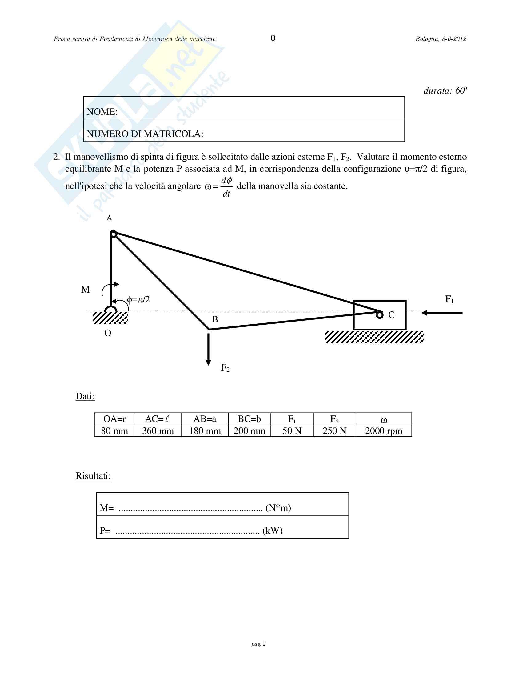 3 esami prof Catania Meccanica applicata alle macchine Pag. 6