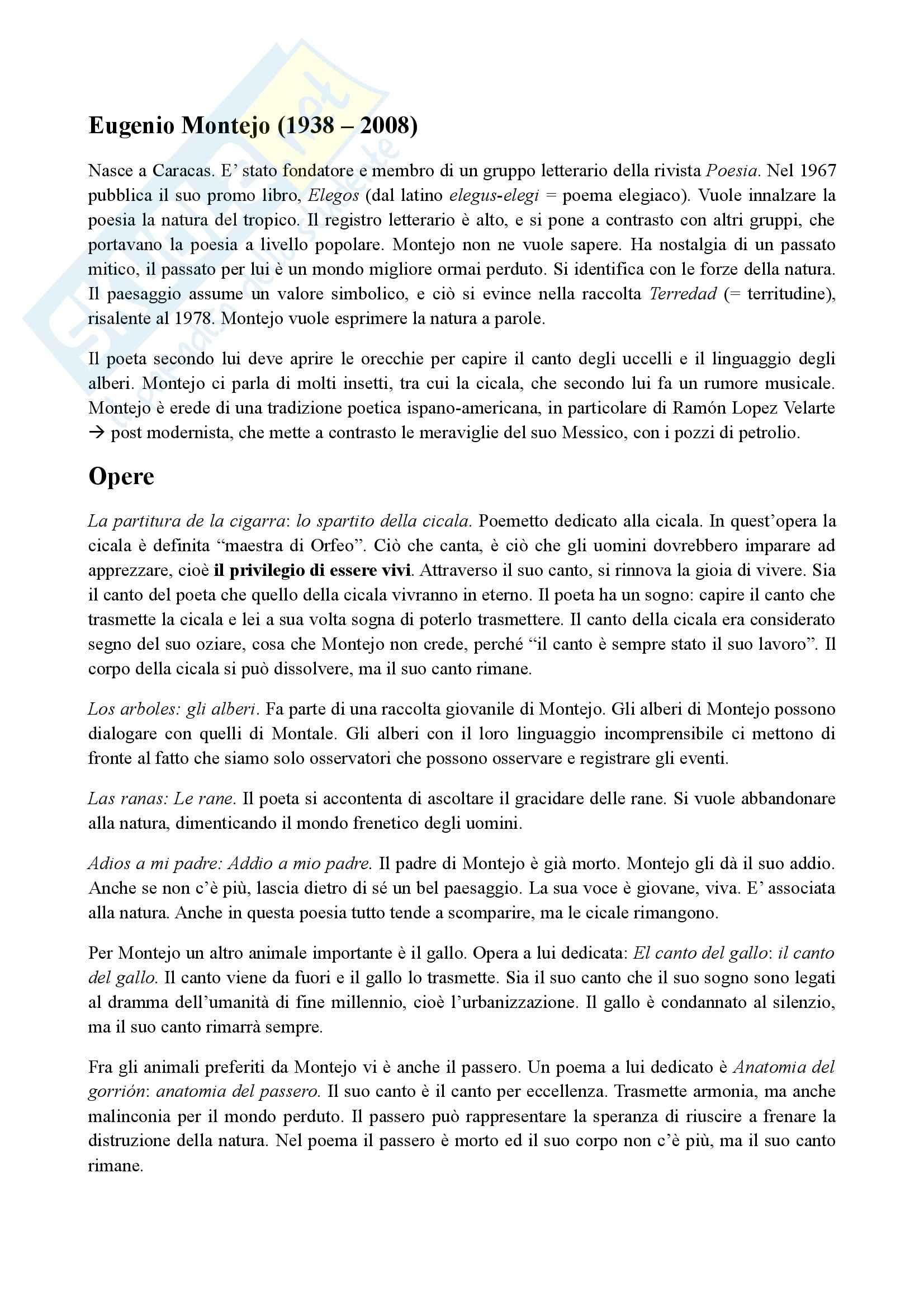 Eugenio Montejo - Vita ed opere